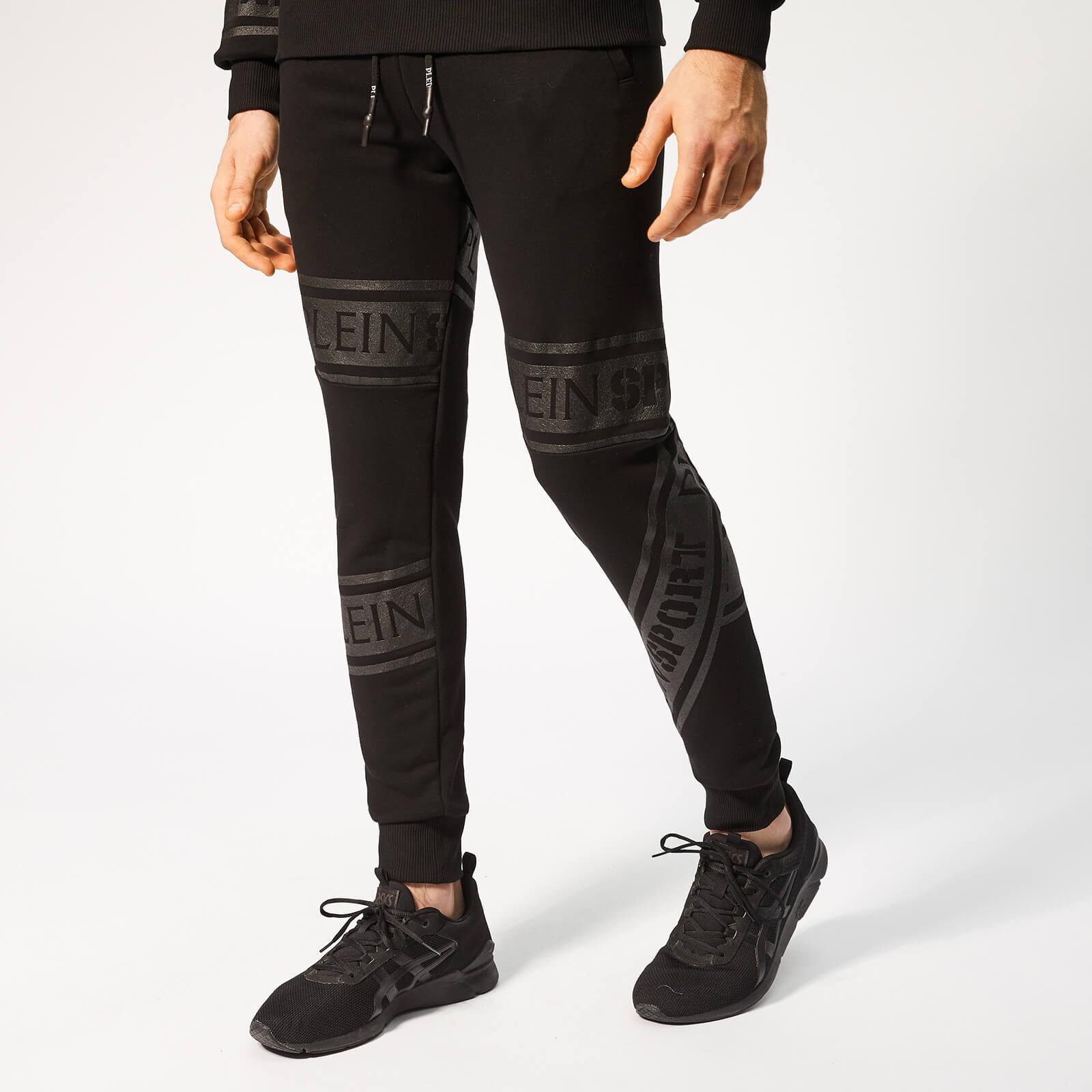 Plein Sport Men's Tape Stripes Jogging Trousers - Black - XL - Black