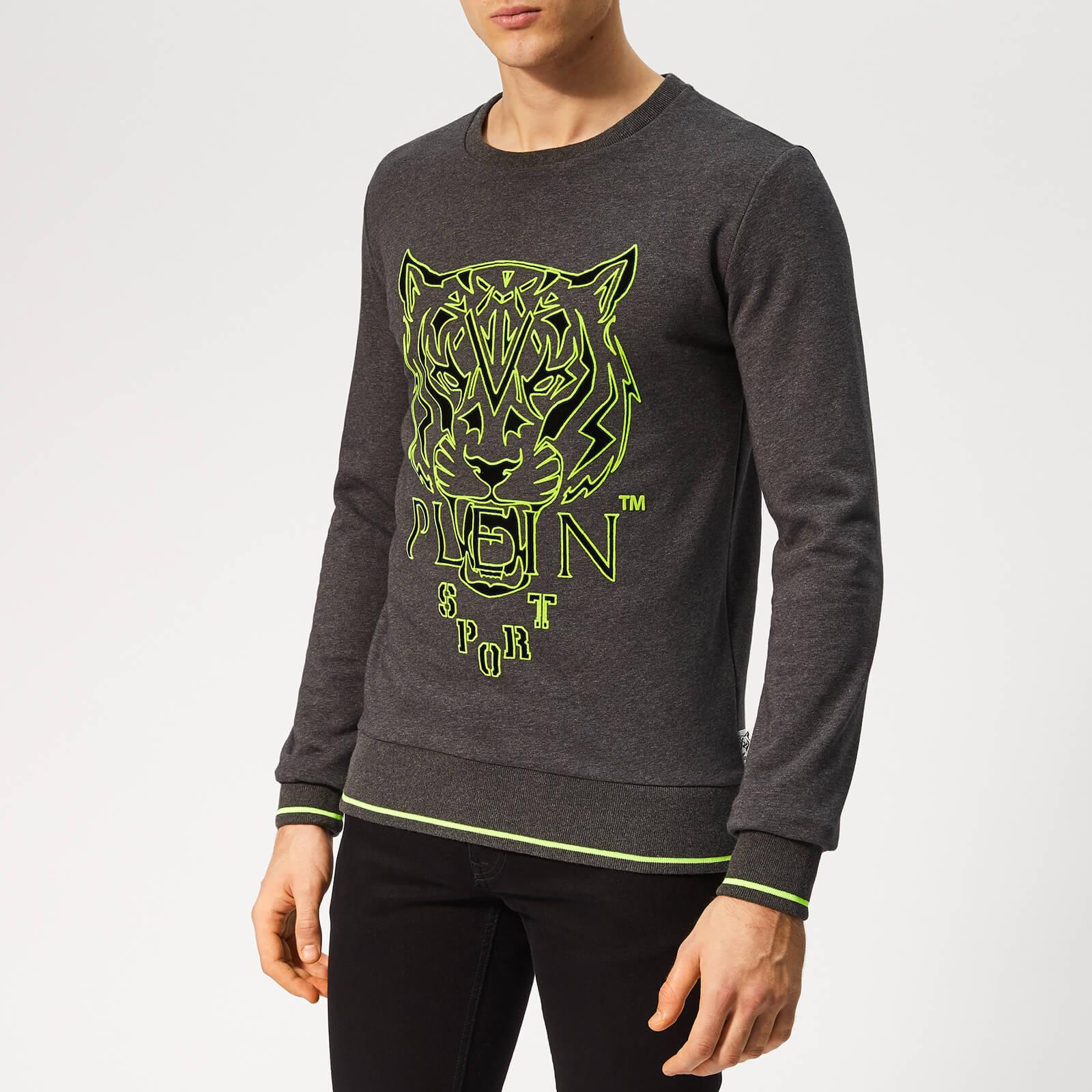 Plein Sport Men's Tiger Sweatshirt - Grey - XL - Grey