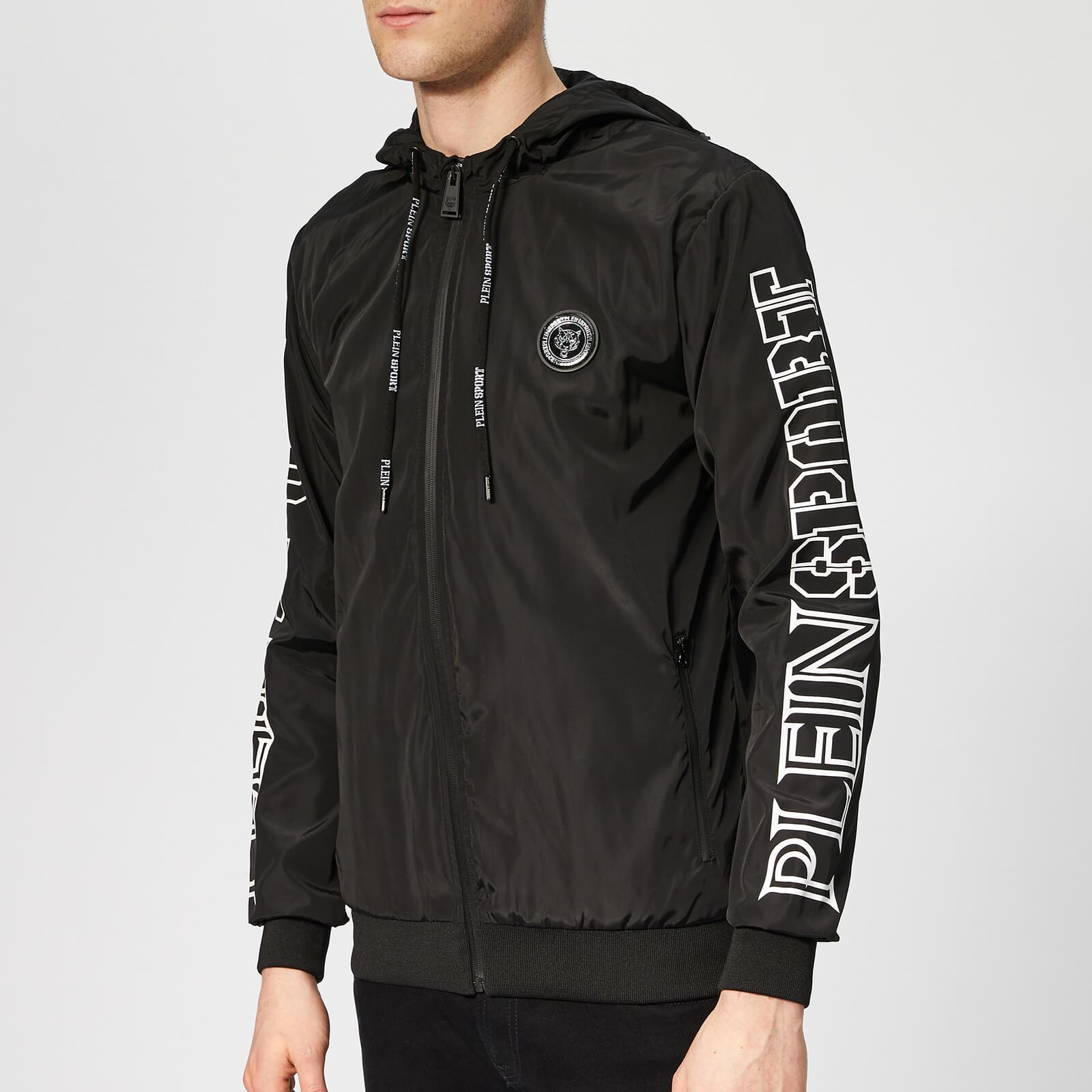 Plein Sport Men's Statement Hooded Sweat Jacket - Black - L - Black