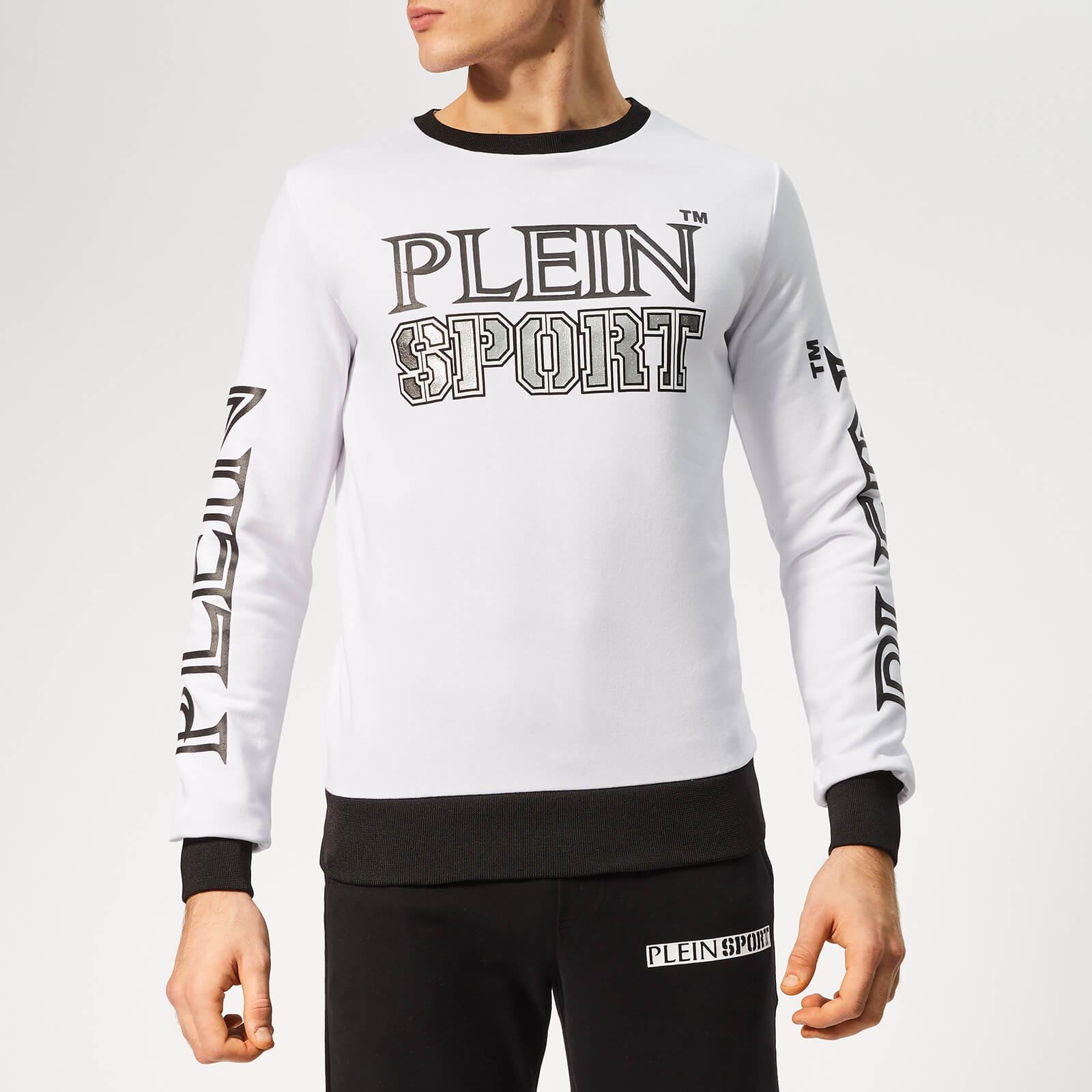 Plein Sport Men's Statement Sweatshirt - White/Silver - XXL - White/Silver