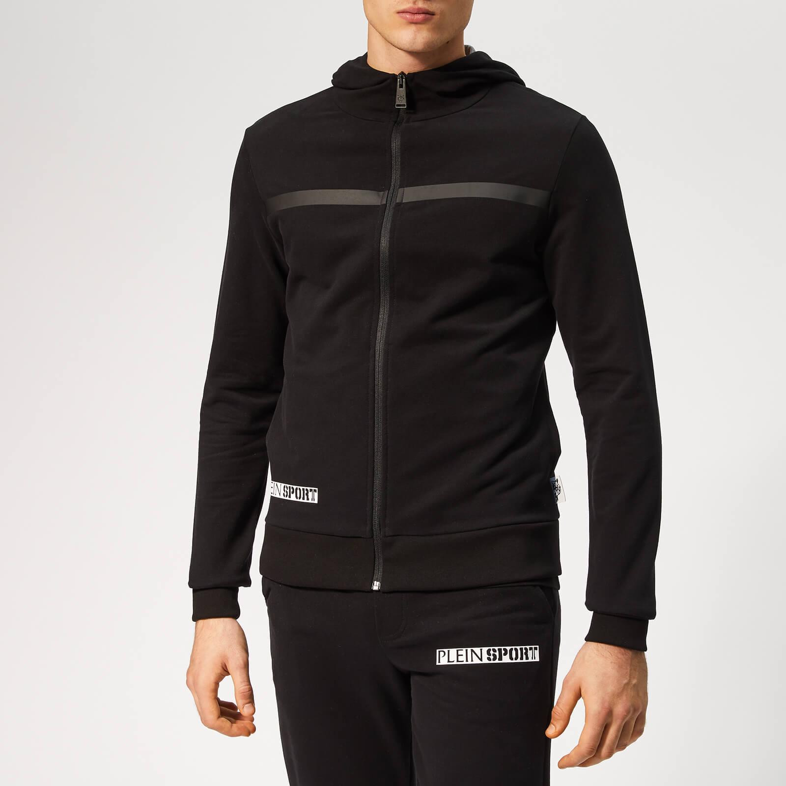 Plein Sport Men's Hooded Sweat Statement Jacket - Black - S - Black