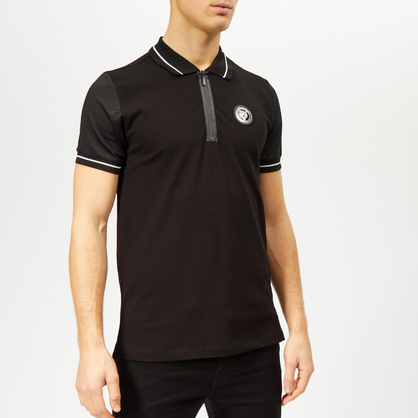 Plein Sport Men's Statement Polo-Shirt - Black/White - XL - Black/White
