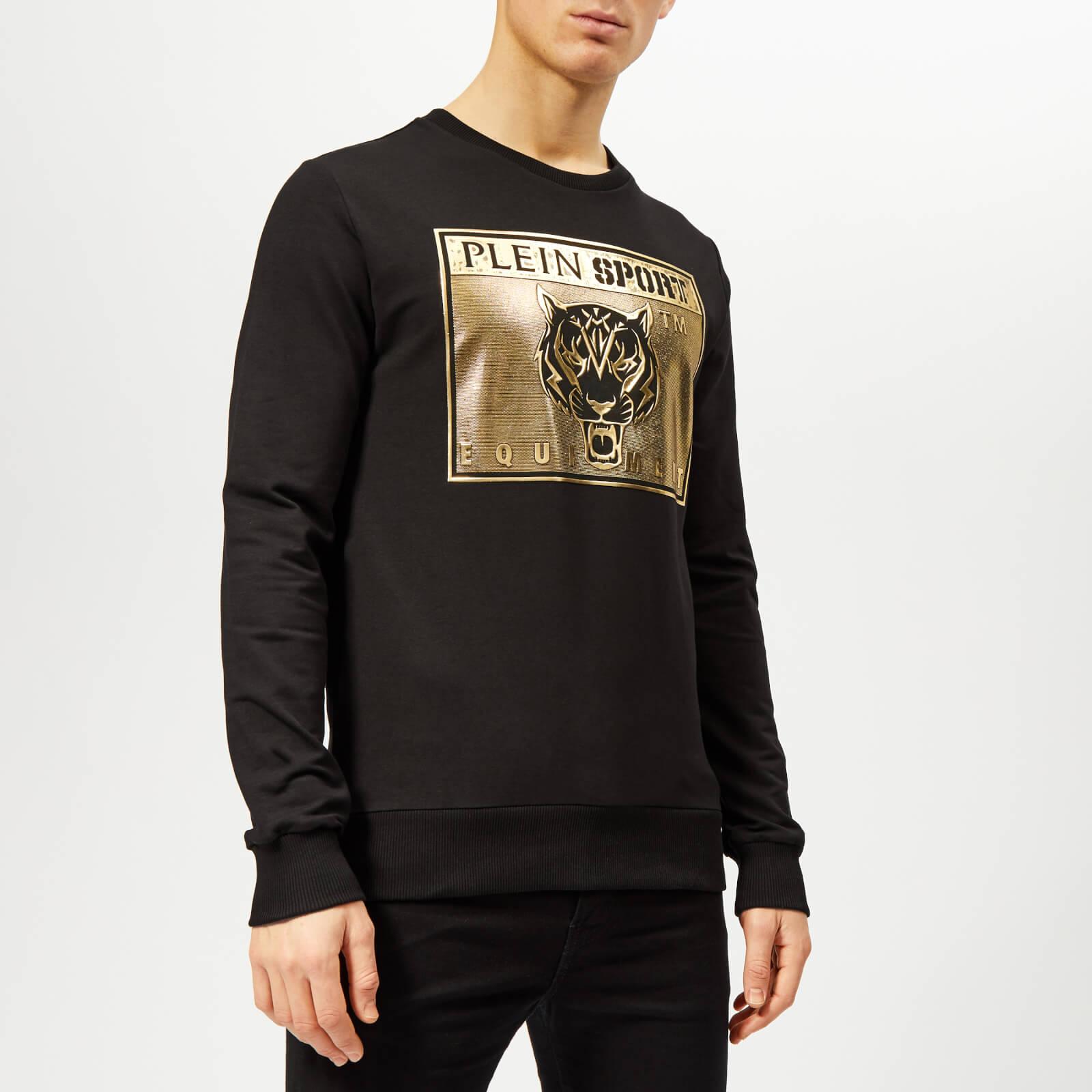 Plein Sport Men's Metal Sport Sweatshirt - Black/Gold - XXL - Black/Gold