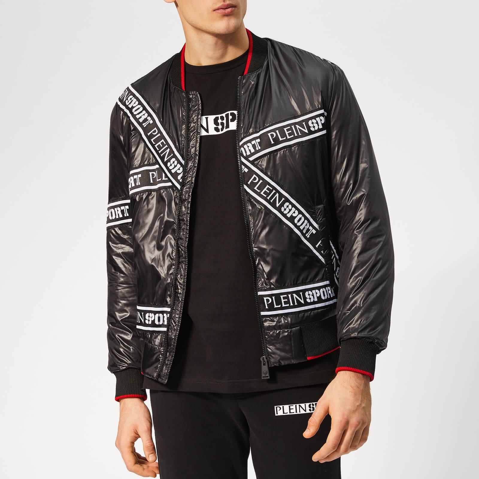 Plein Sport Men's Tape Stripes Nylon Jacket - Black - L - Black