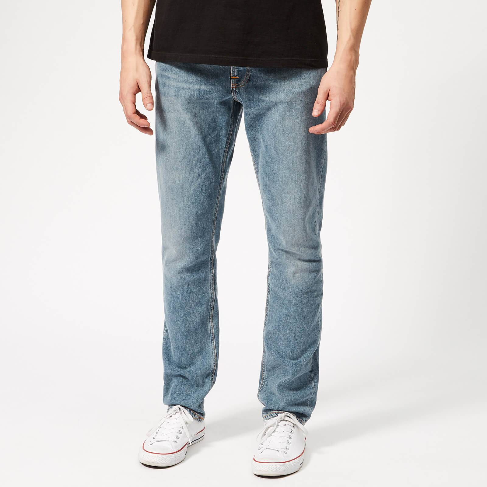 Nudie Jeans Men's Lean Dean Tapered Jeans - Mid Stone Comfort - W34/L34 - Blue