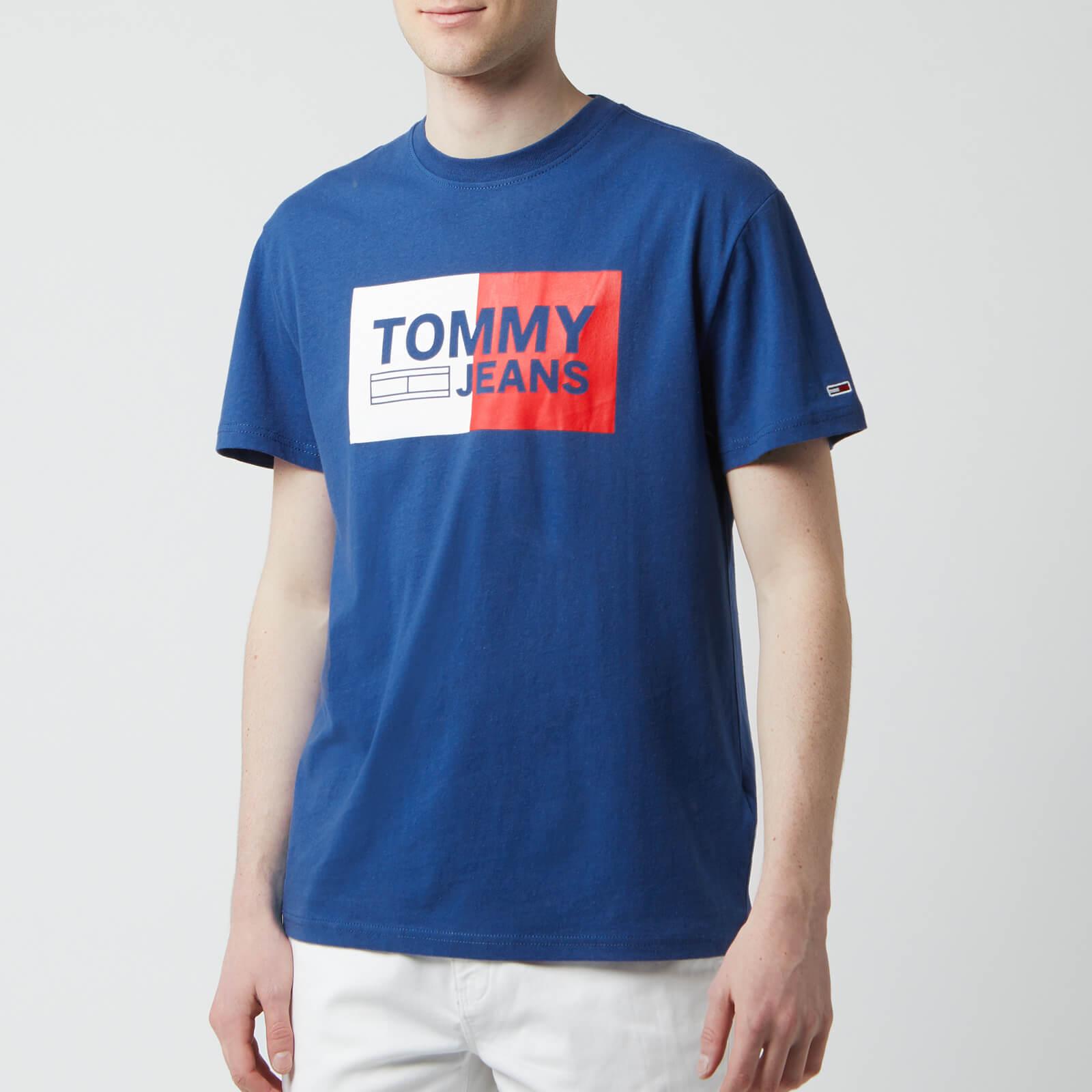 Tommy Jeans Men's Essential Split Box T-Shirt - Limoges - L - Blue