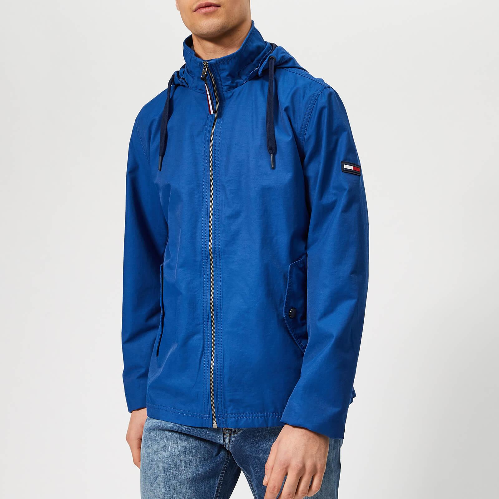 Tommy Jeans Men's Essential Hooded Jacket - Limoges - XL - Blue