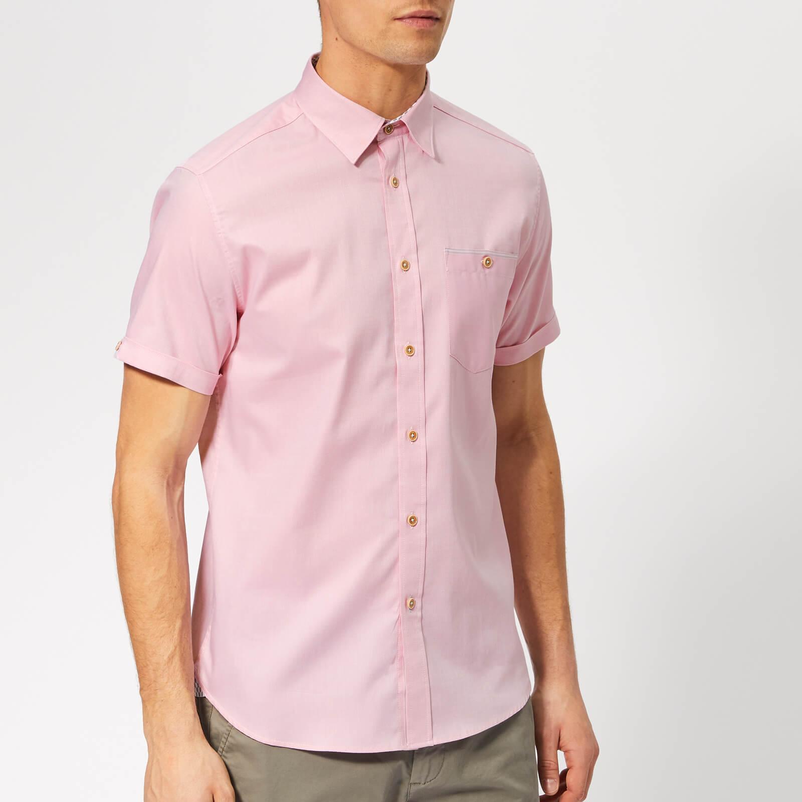 Ted Baker Men's Wallabi Short Sleeve Shirt - Pink - 4/L - Pink