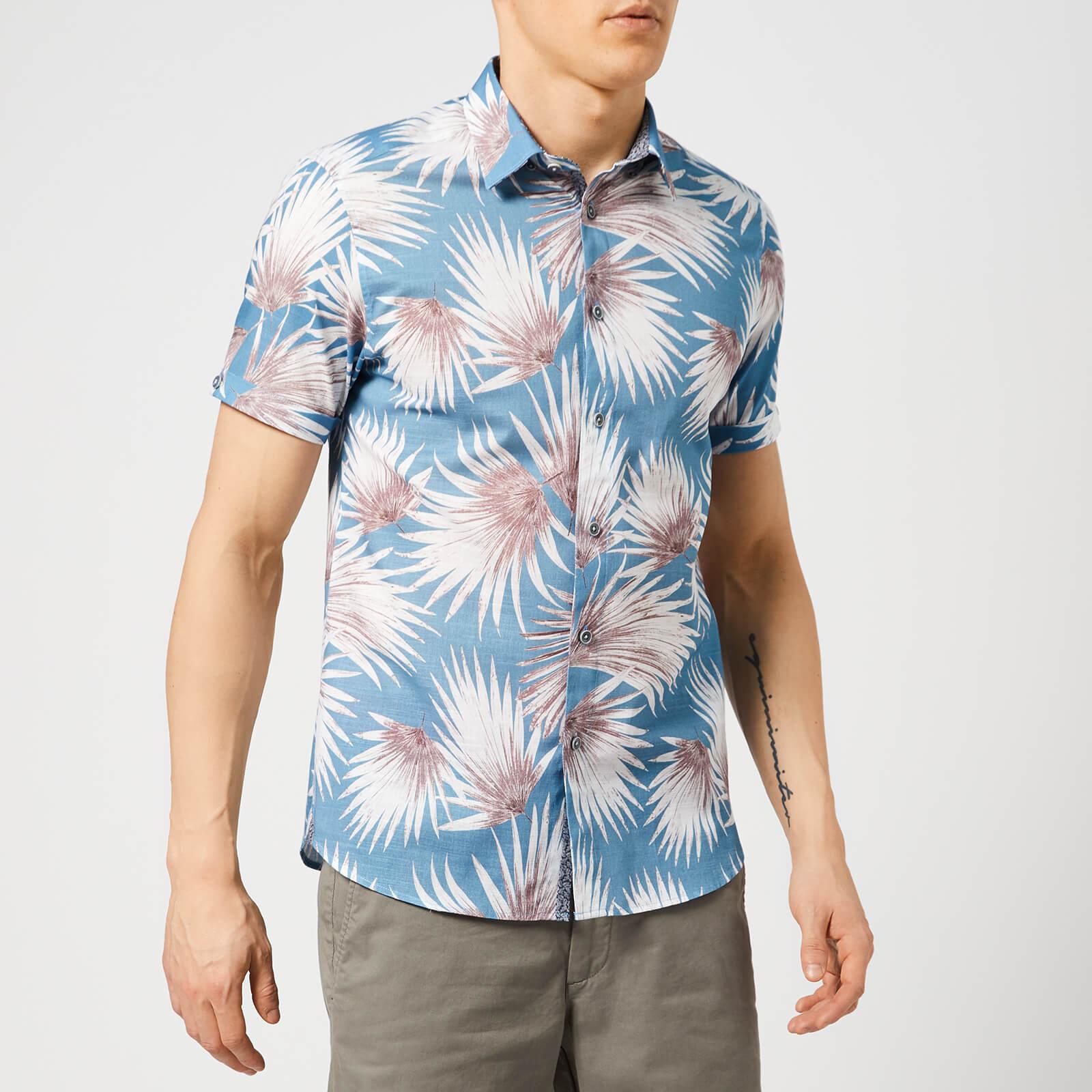 Ted Baker Men's Hedgeog Short Sleeve Shirt - Blue - 2/S - Blue