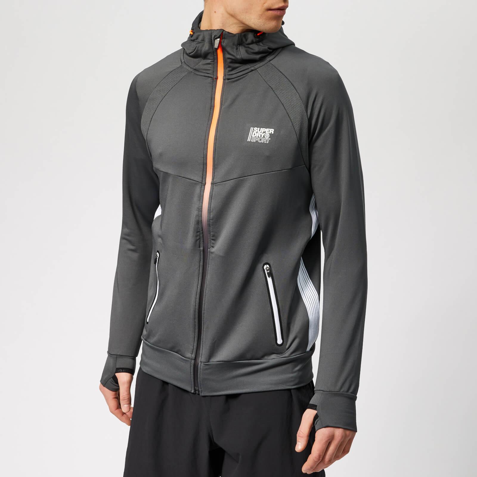Superdry Sport Men's Active Training Zip Hoody - Cool Olive - L - Grey