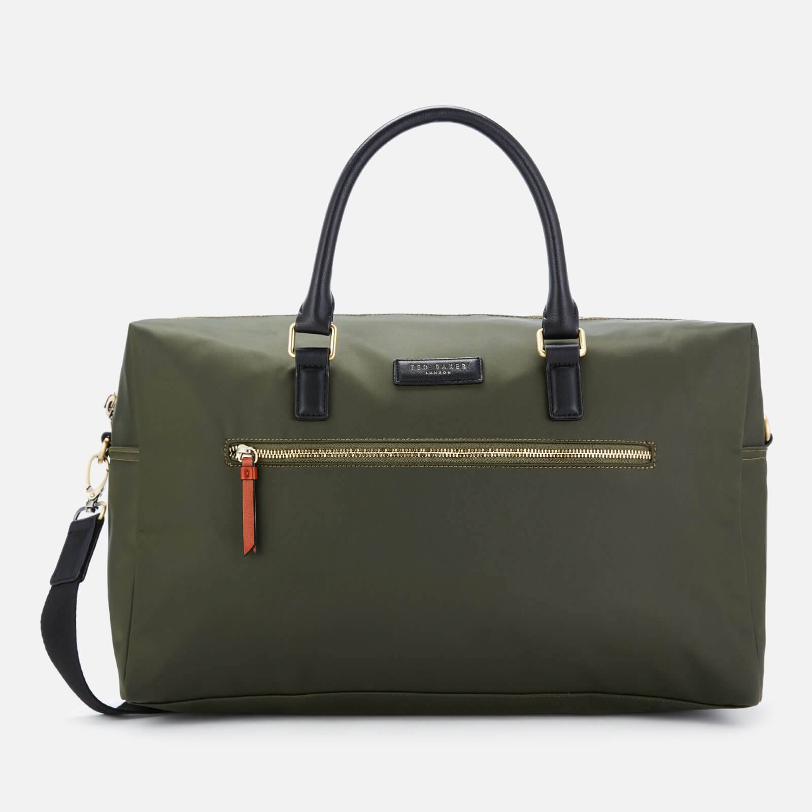 Ted Baker Men's Rokket Satin Nylon Holdall Bag - Olive