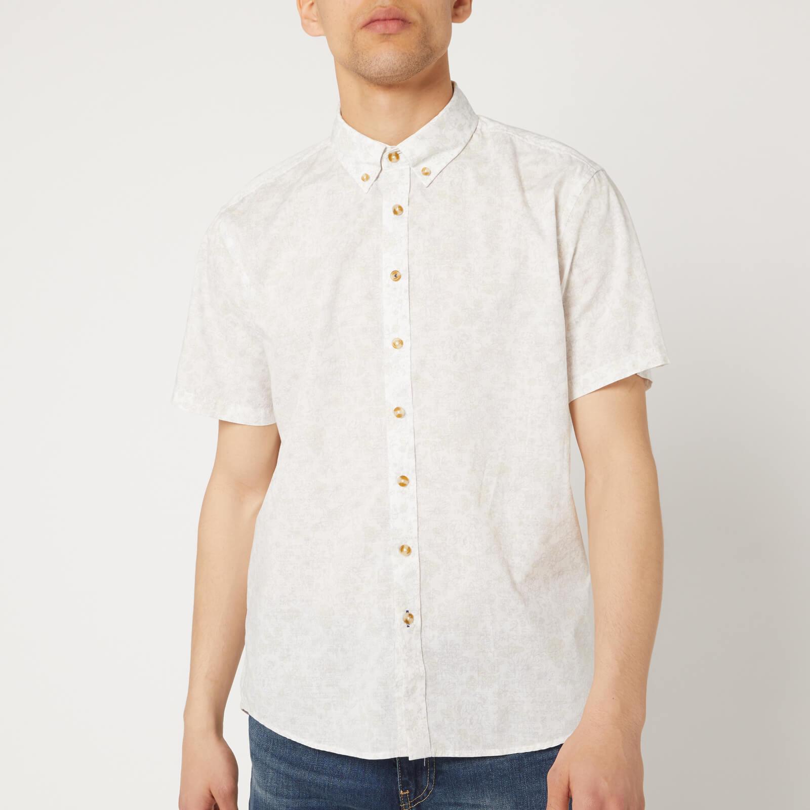 Joules Men's Lloyd Short Sleeve Shirt - Large Ditsy - XXL - Grey