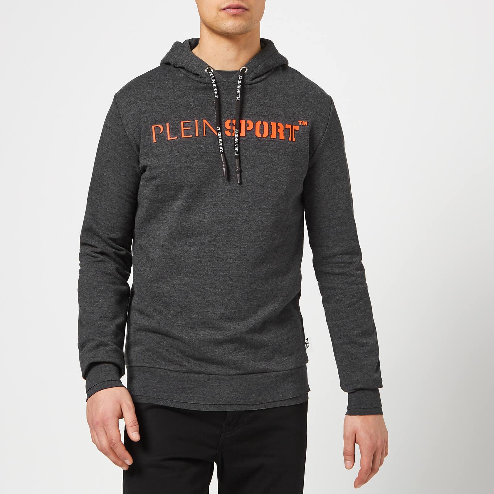 Plein Sport Men's Hoodie Sweatshirt Statement - Dark Grey - XL - Grey