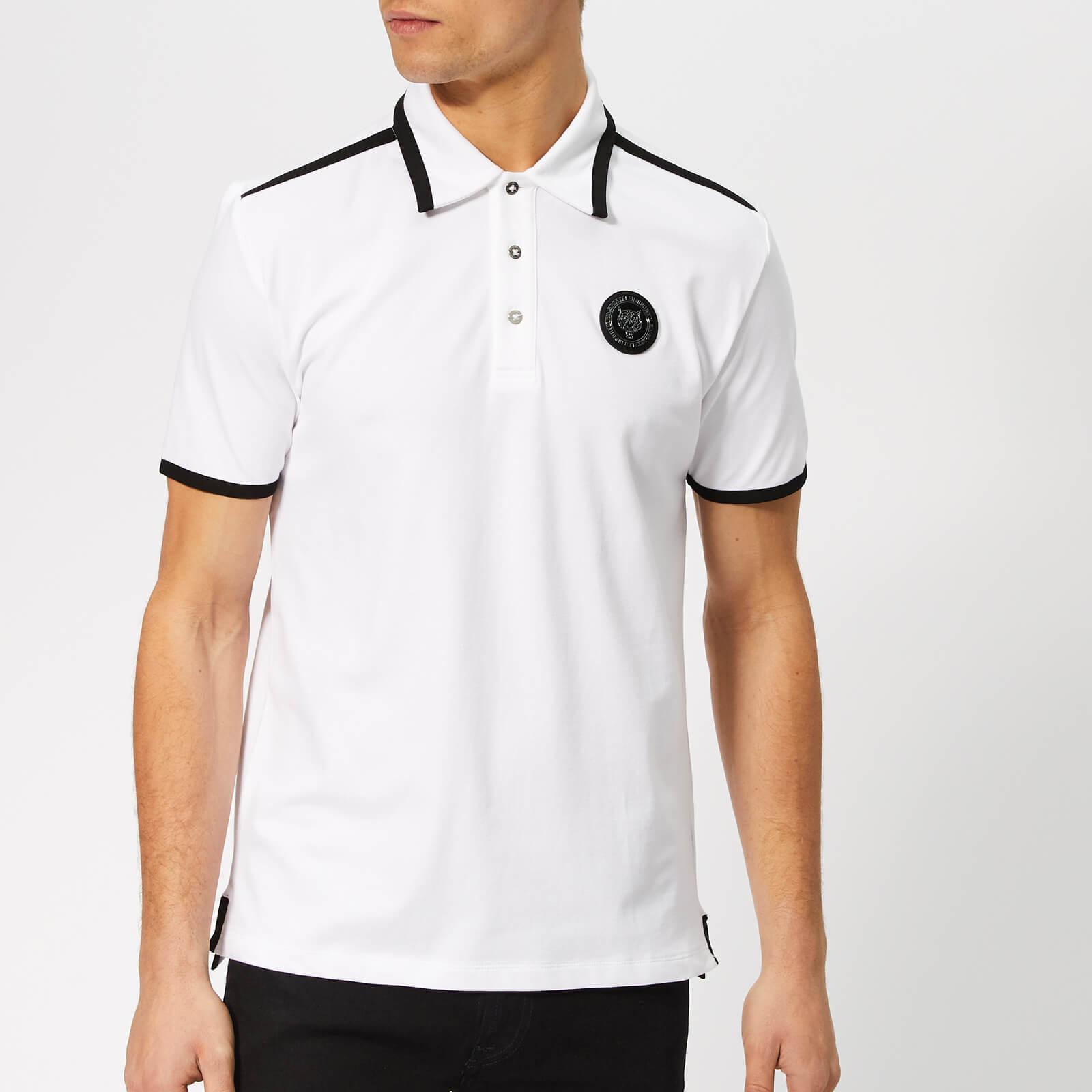 Plein Sport Men's Tiger Polo Shirt - White - XXL - White