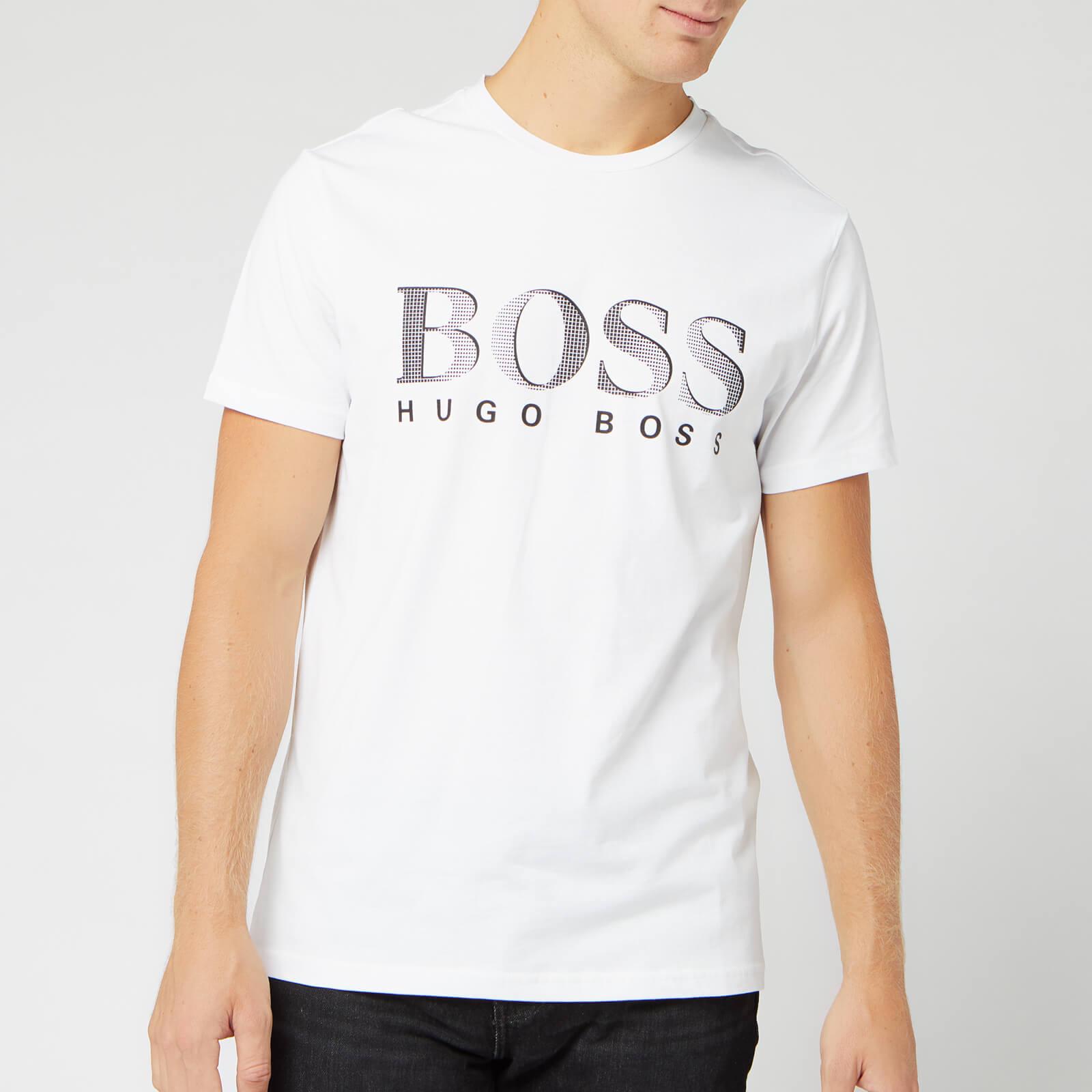 Boss Men's Large Logo T-Shirt - White - S
