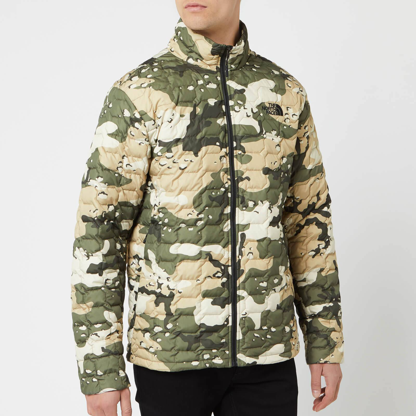 The North Face Men's Thermoball Jacket - Peyote Beige Woodchip Camp Print - L