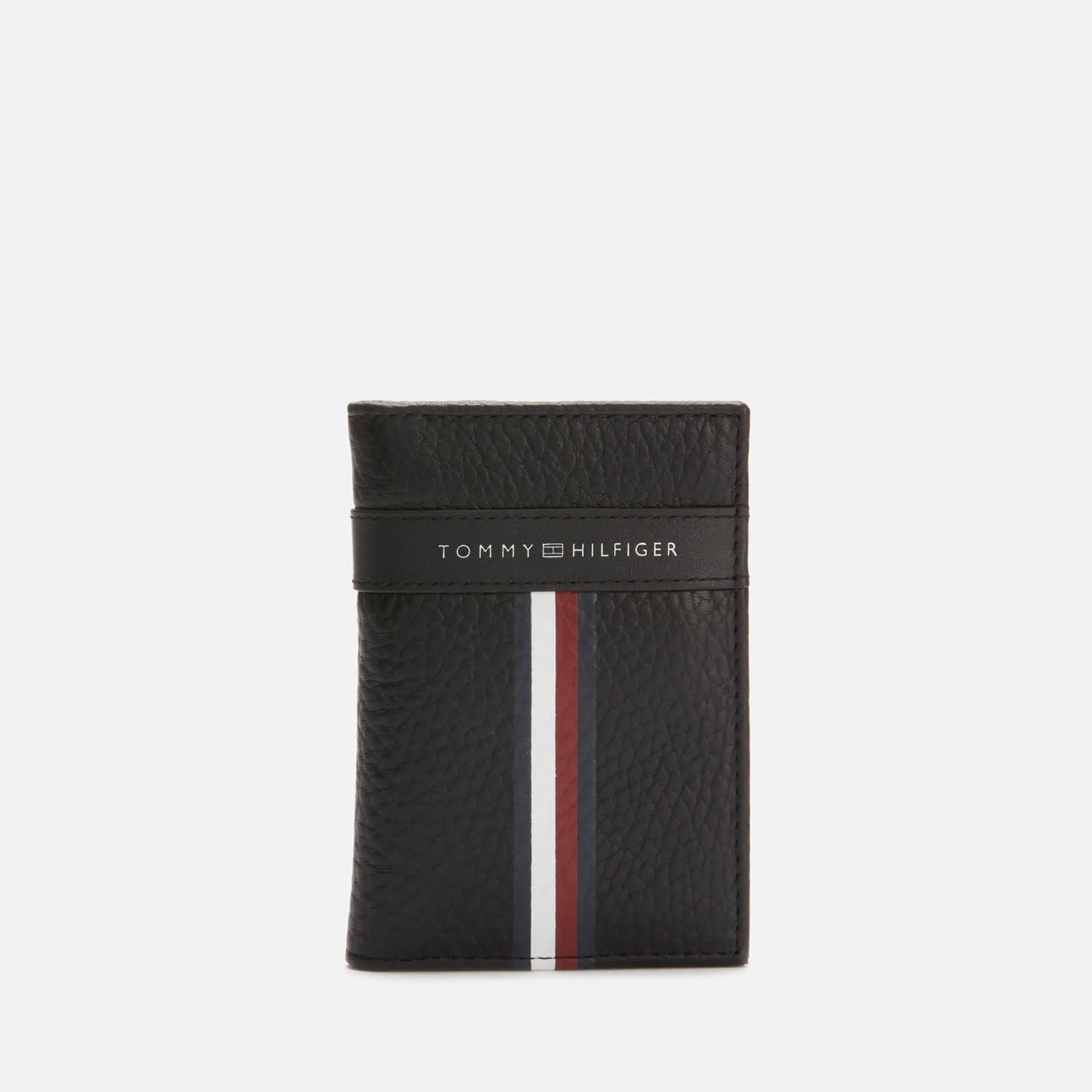 Tommy Hilfiger Men's Corporate Leather Mini Credit Card Bifold - Black