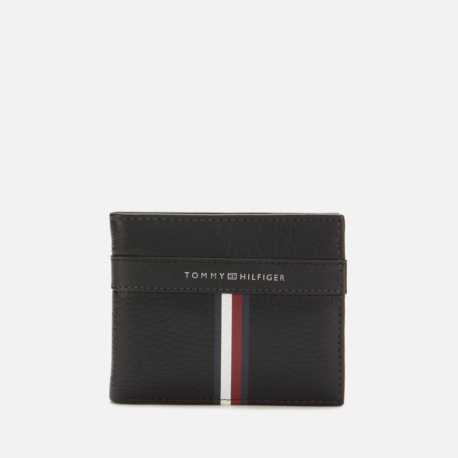 Tommy Hilfiger Men's Corporate Leather Mini Credit Card Wallet - Black