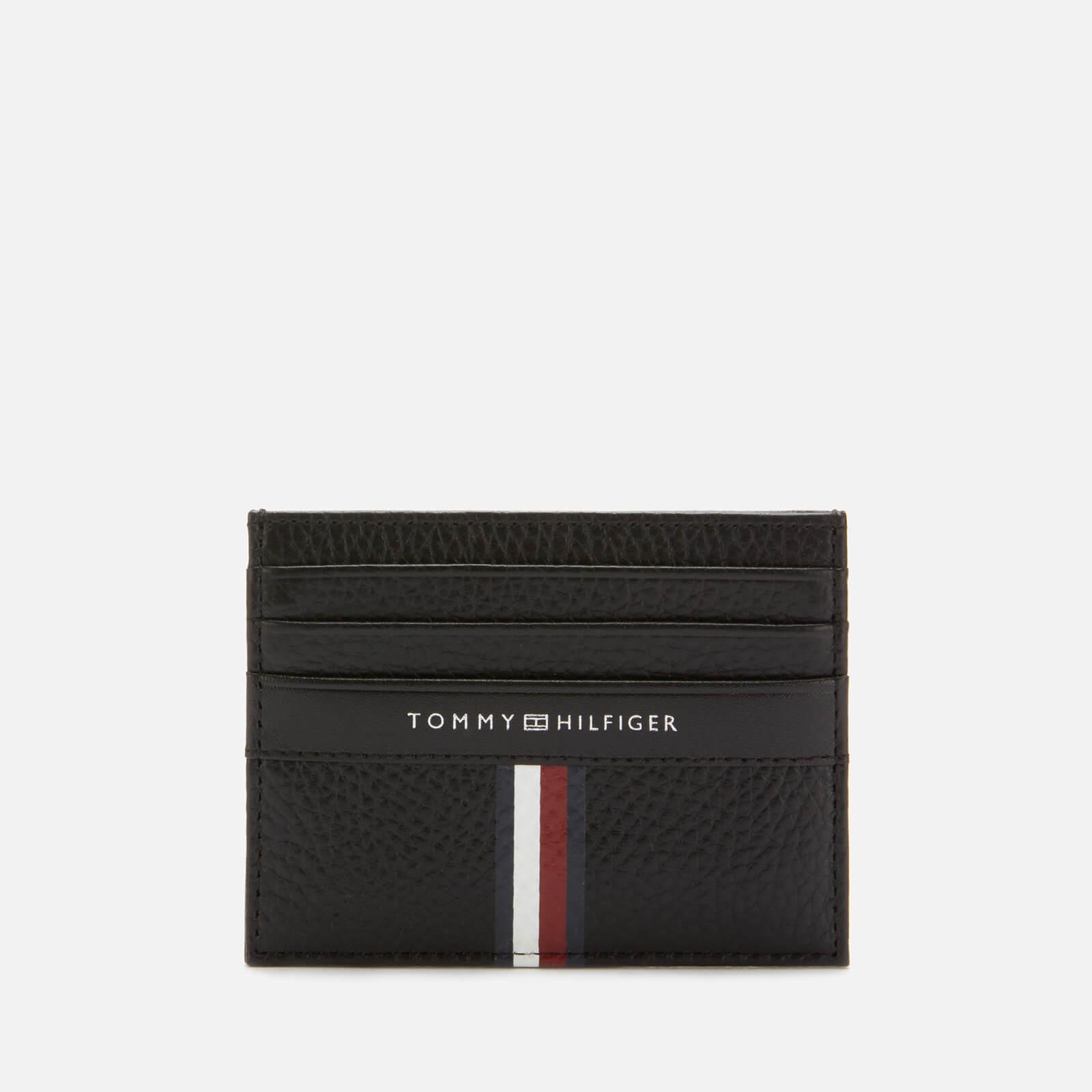 Tommy Hilfiger Men's Corporate Leather Mini Credit Card Holder - Black