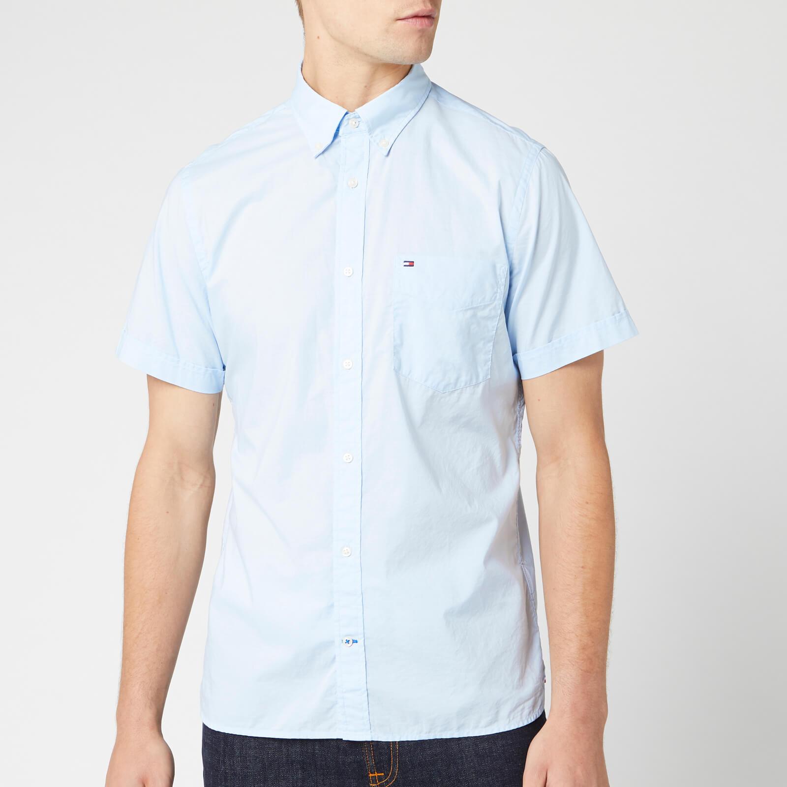 Tommy Hilfiger Men's Slim Summer Poplin Shirt - Chambray Blue - L - Blue