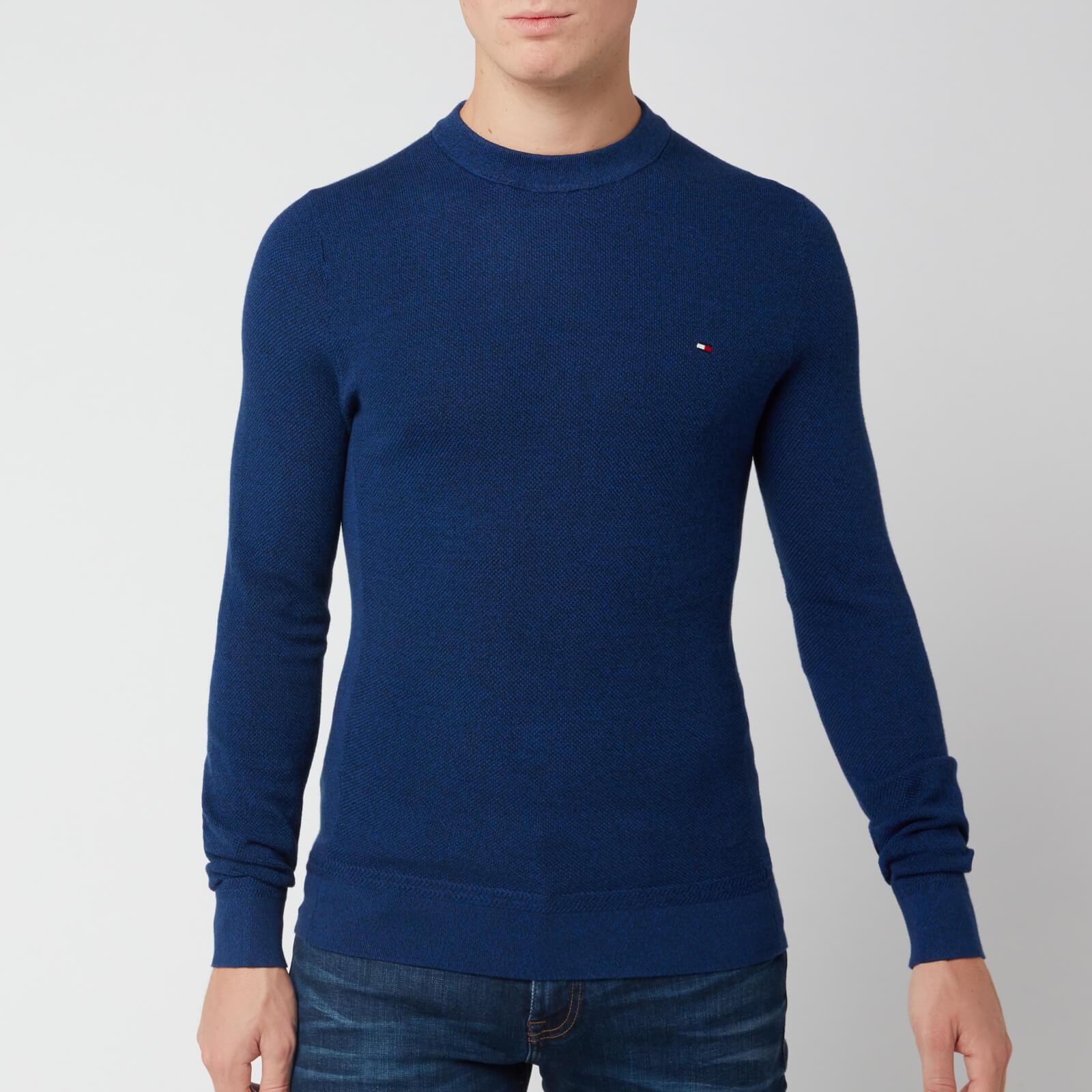 Tommy Hilfiger Men's Mouline Ricecorn Jumper - Blue Quartz - L - Blue