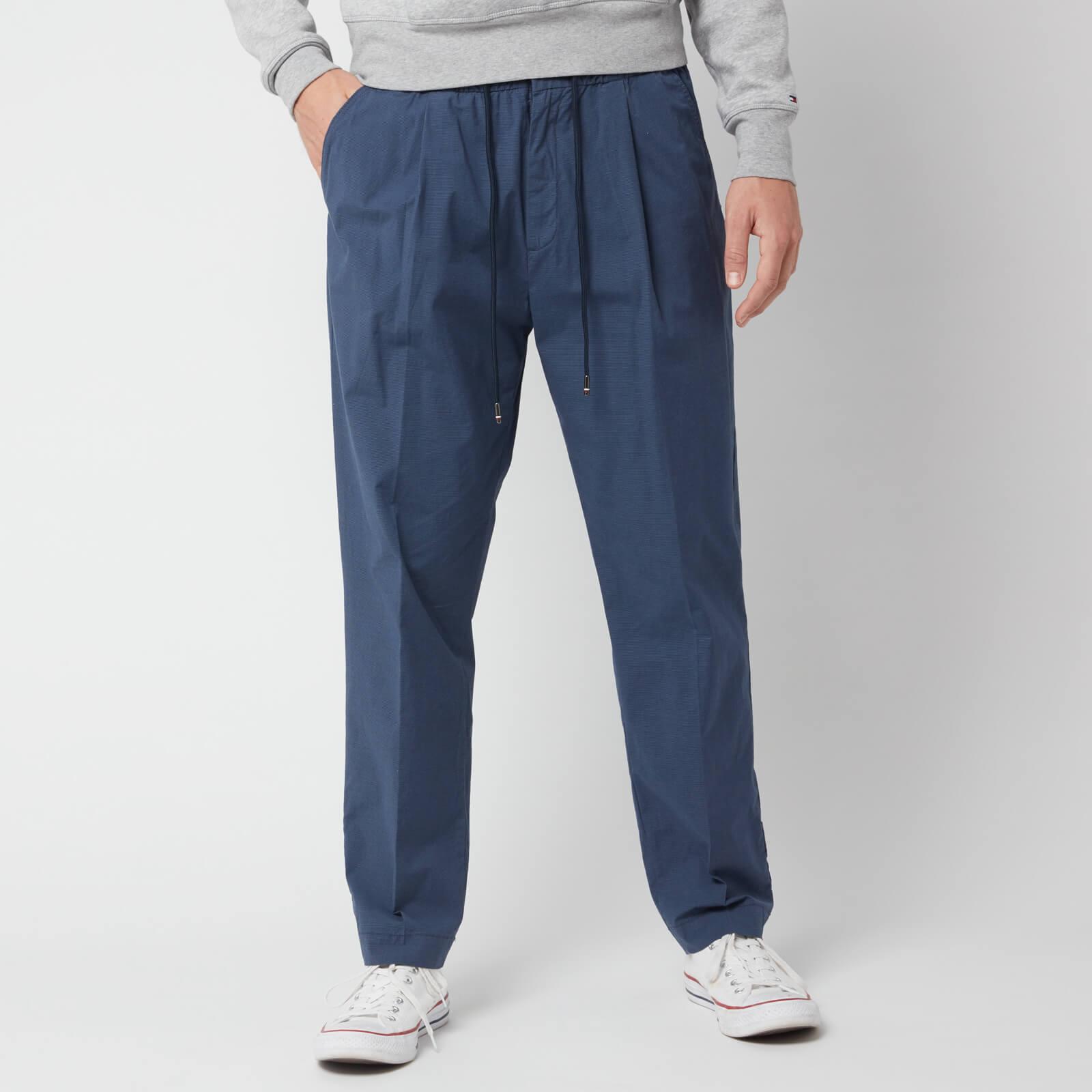 Tommy Hilfiger Men's Puppytooth Active Cotton Pants - Blue Quartz - M/W34 - Blue