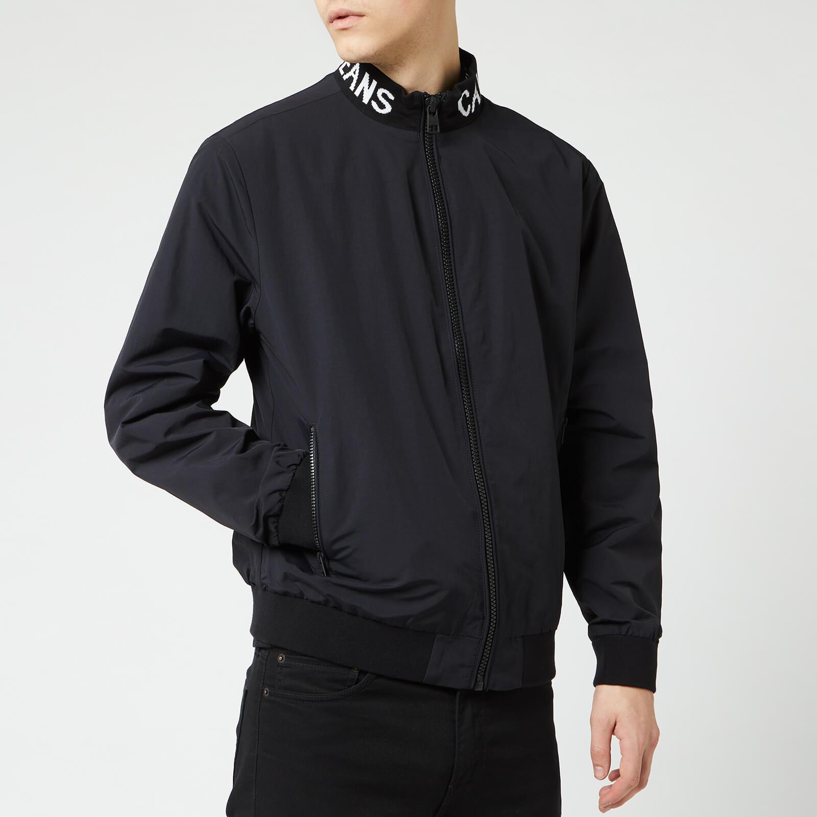 Calvin Klein Jeans Men's Logo Collar Nylon Jacket - CK Black - S - Black