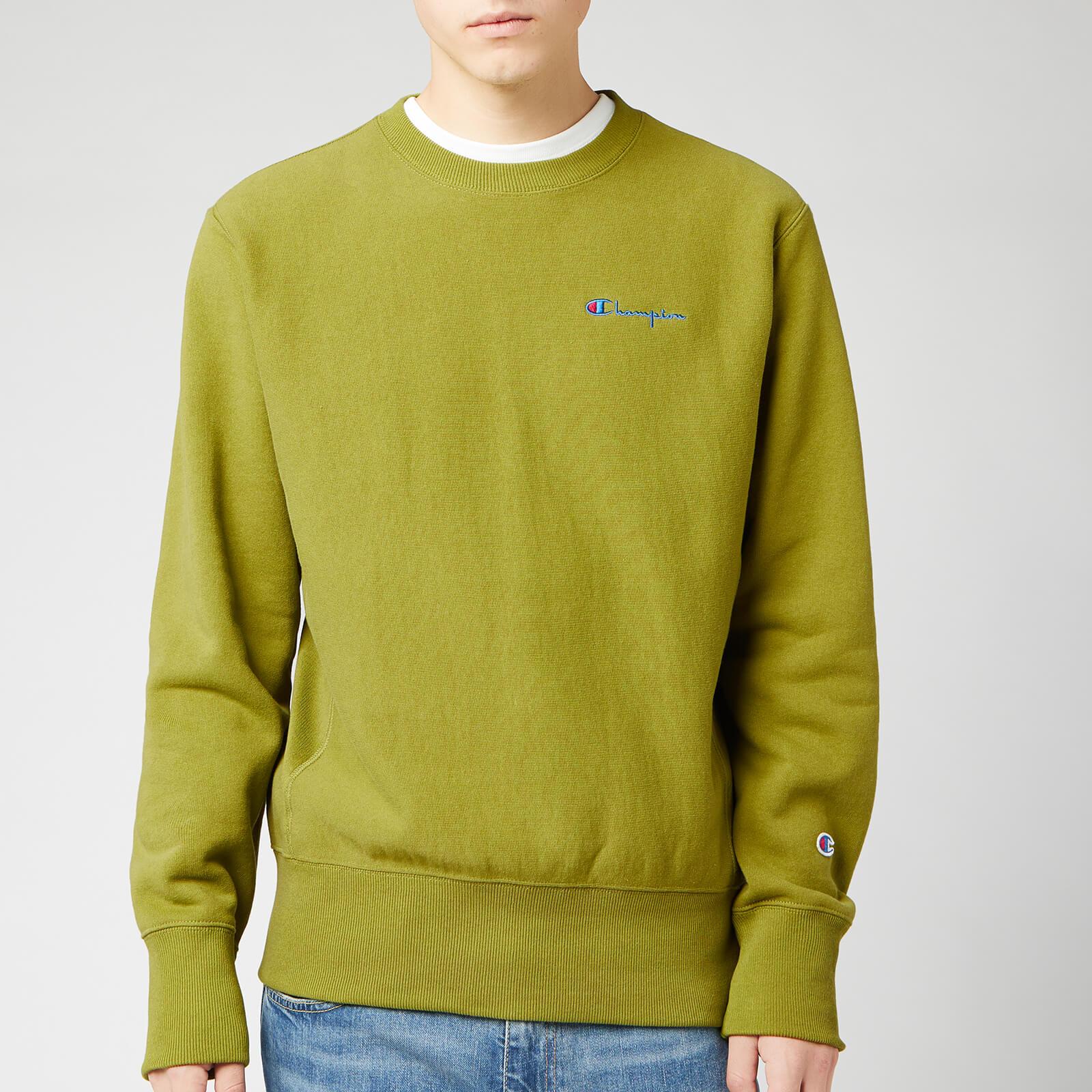 Champion Men's Small Script Sweatshirt - Green - XL
