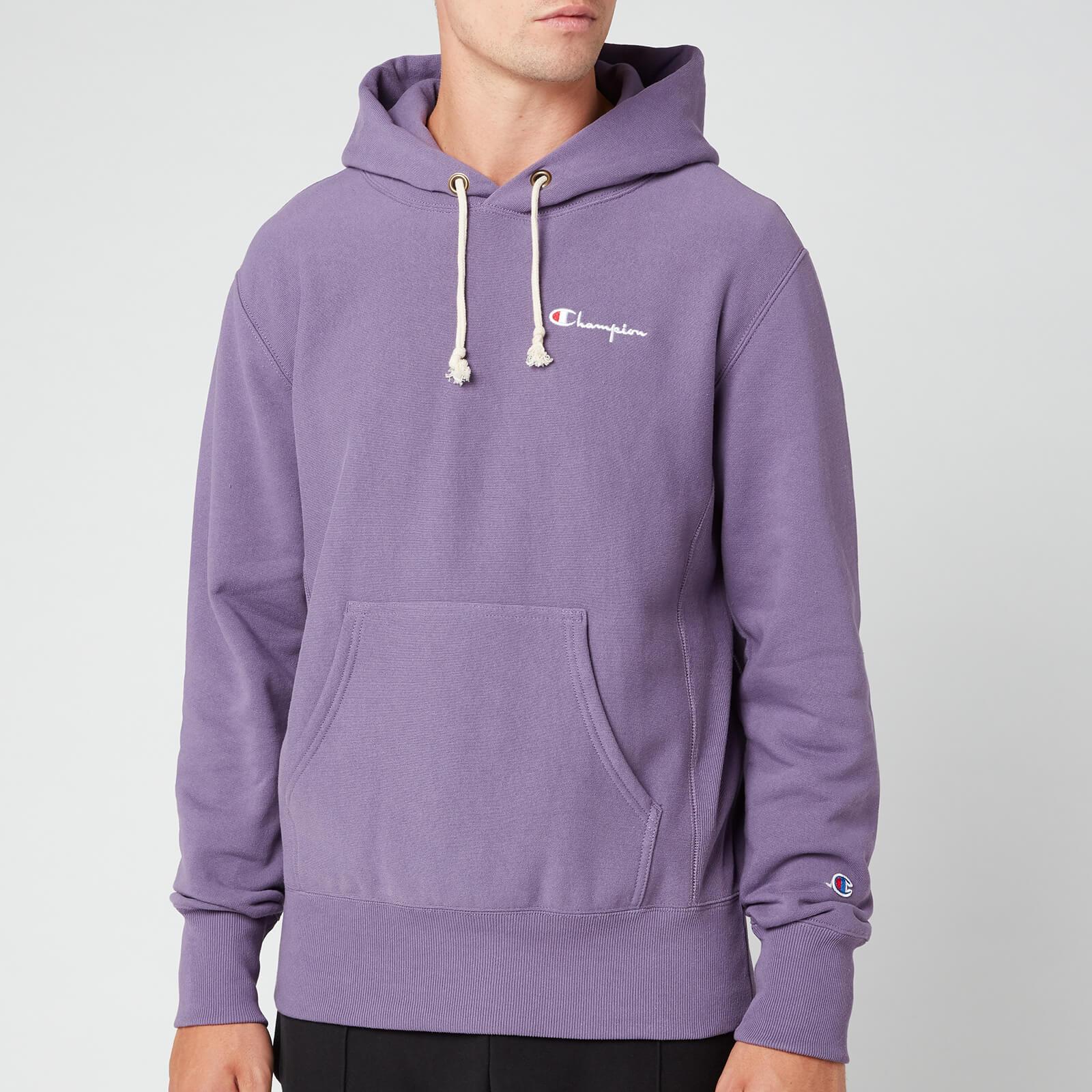 Champion Men's Small Script Hooded Sweatshirt - Purple - M