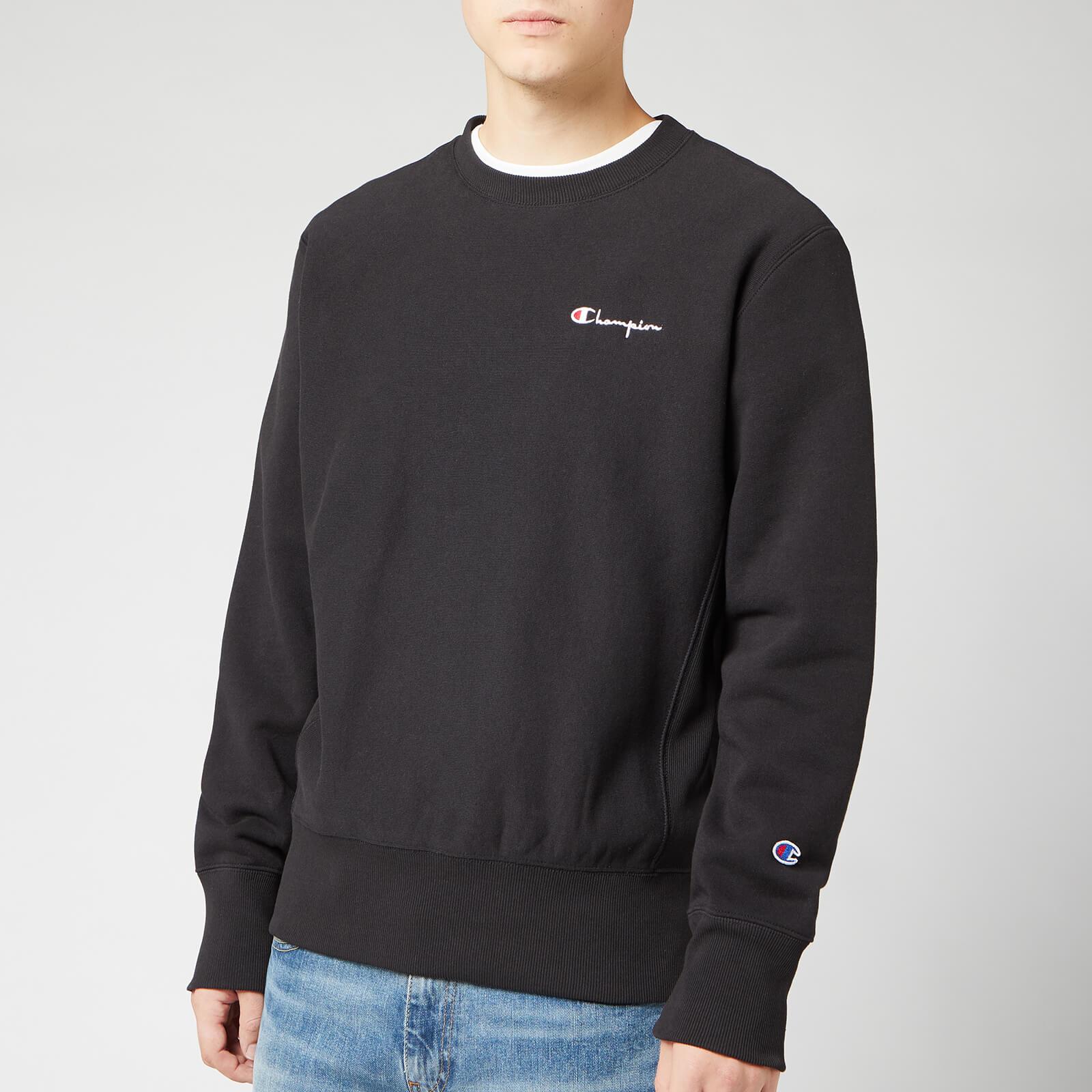 Champion Men's Small Script Sweatshirt - Black - XXL