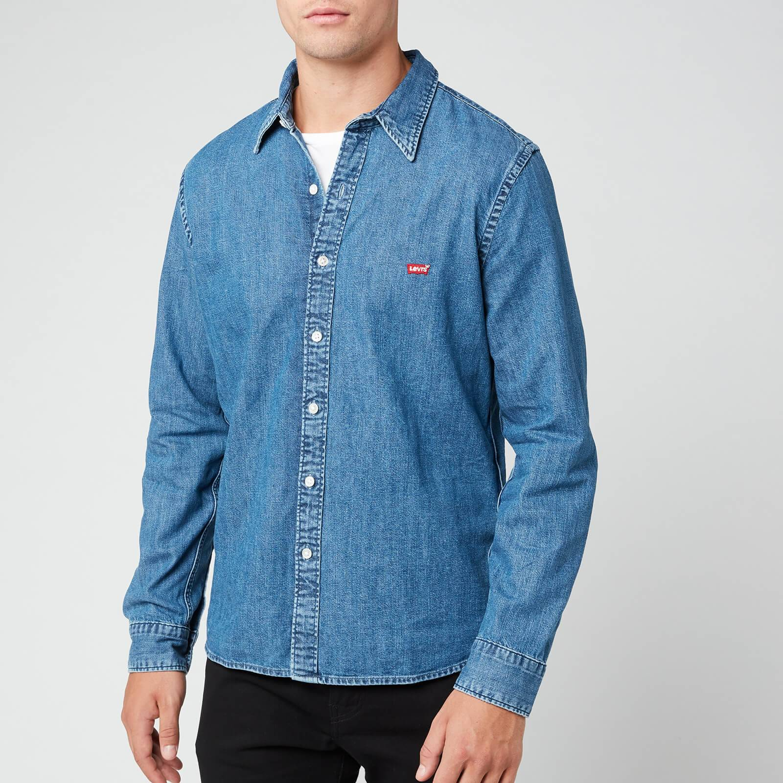 Levi's s Battery Housemark Denim Shirt - Redcast Stone - M