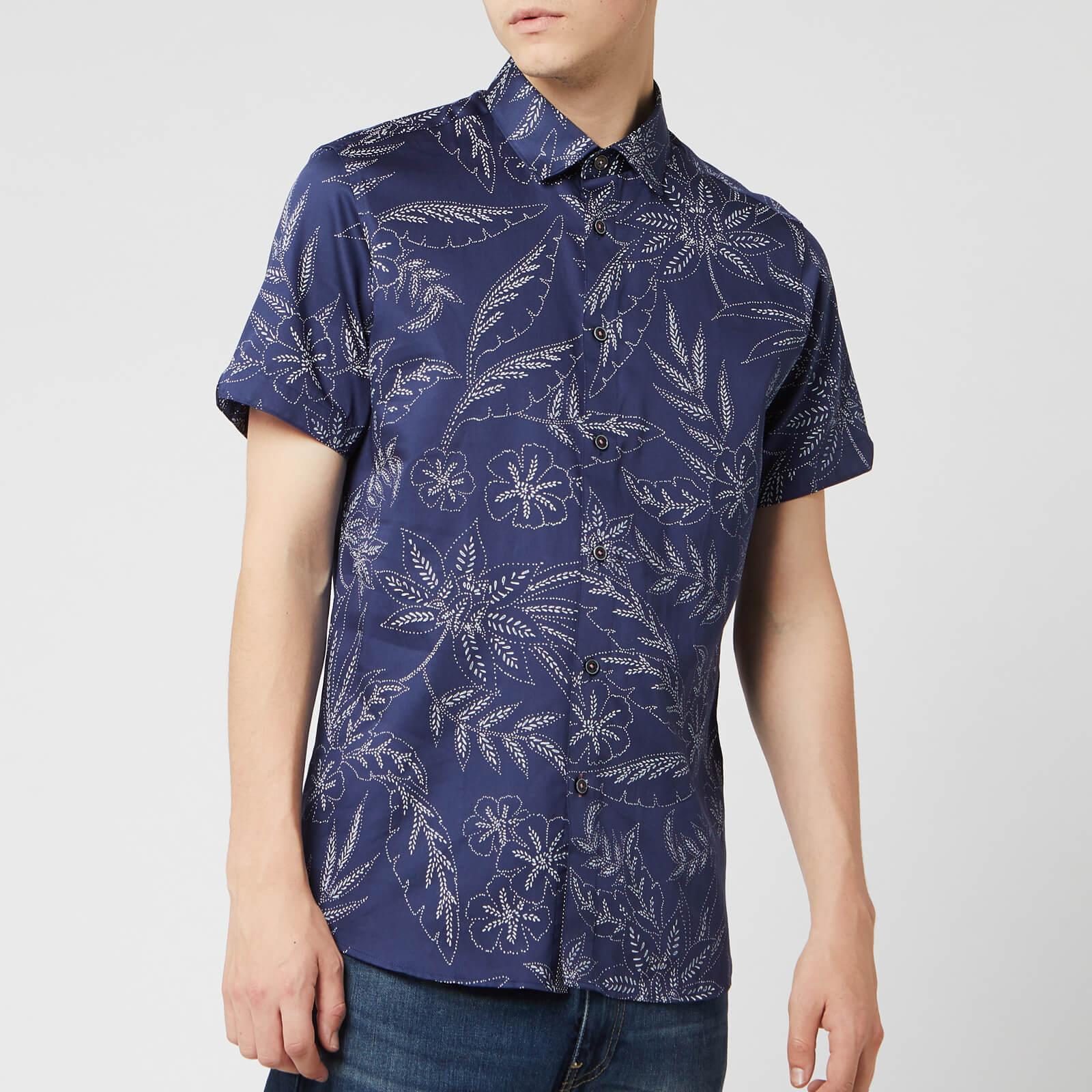 Ted Baker Men's Damiem Short Sleeve Shirt - Navy - M/3