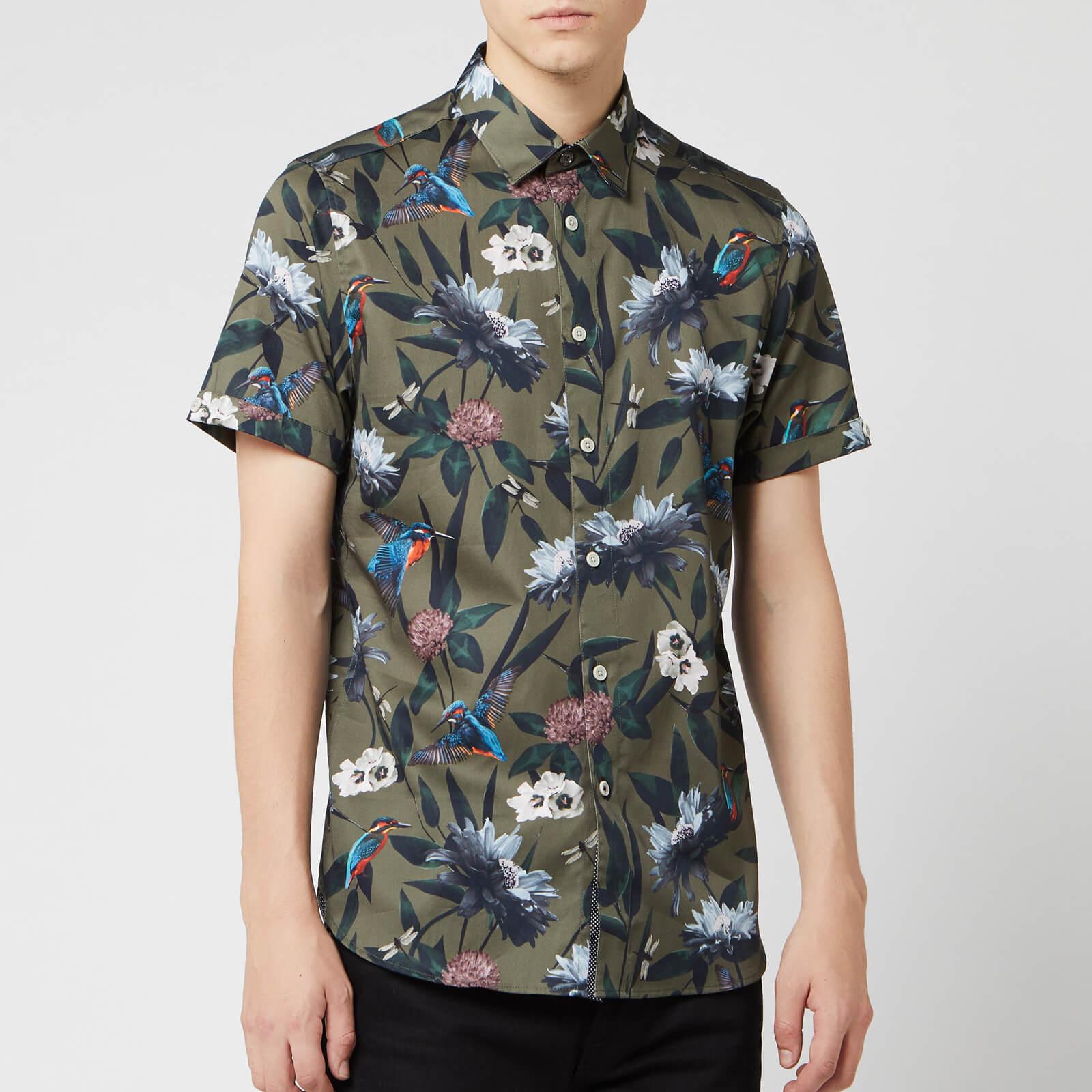 Ted Baker Men's Johnn Patterned Shirt - Khaki - L/4