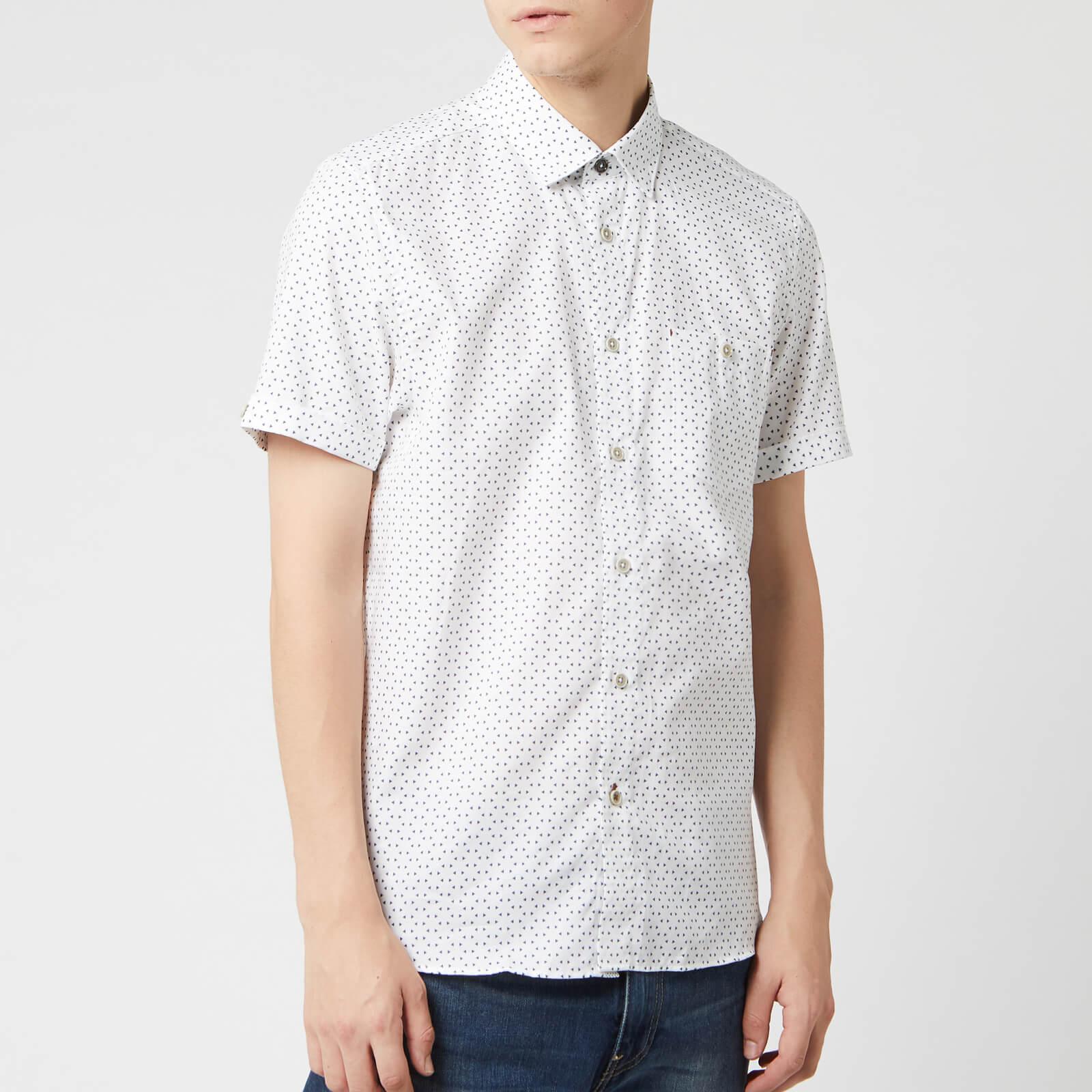 Ted Baker Men's Mathew Short Sleeve Shirt - White - L/4