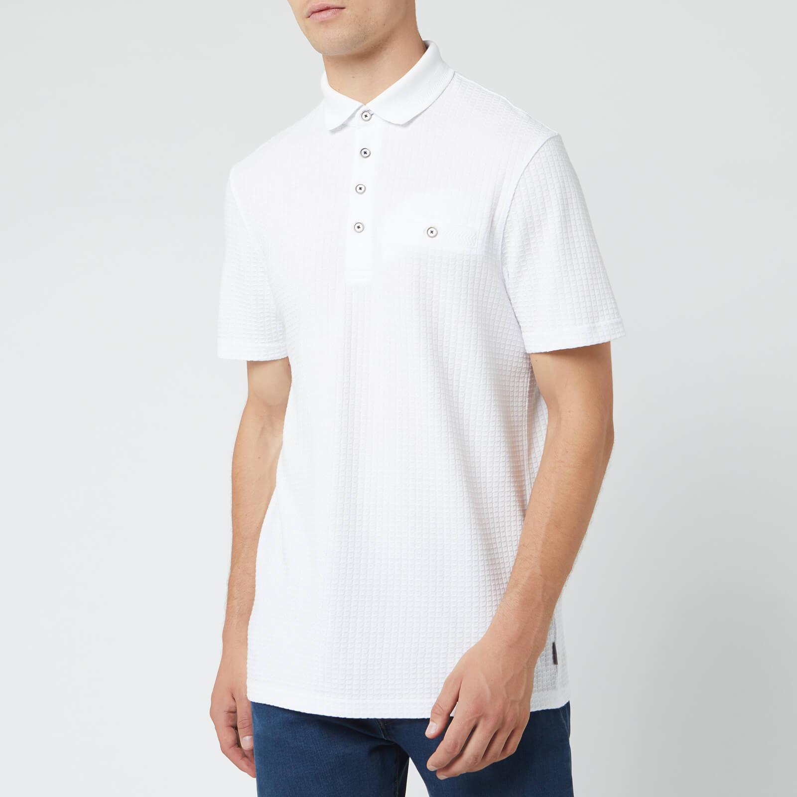 Ted Baker Men's Textured Polo Shirt - White - M/3