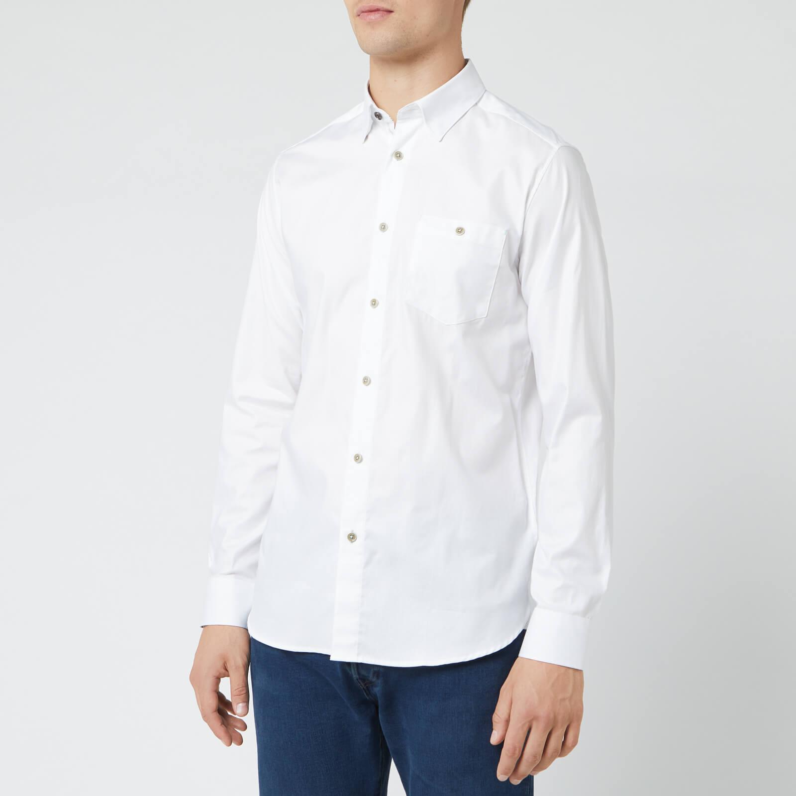 Ted Baker Men's Zachari Long Sleeve Shirt - White - S/2