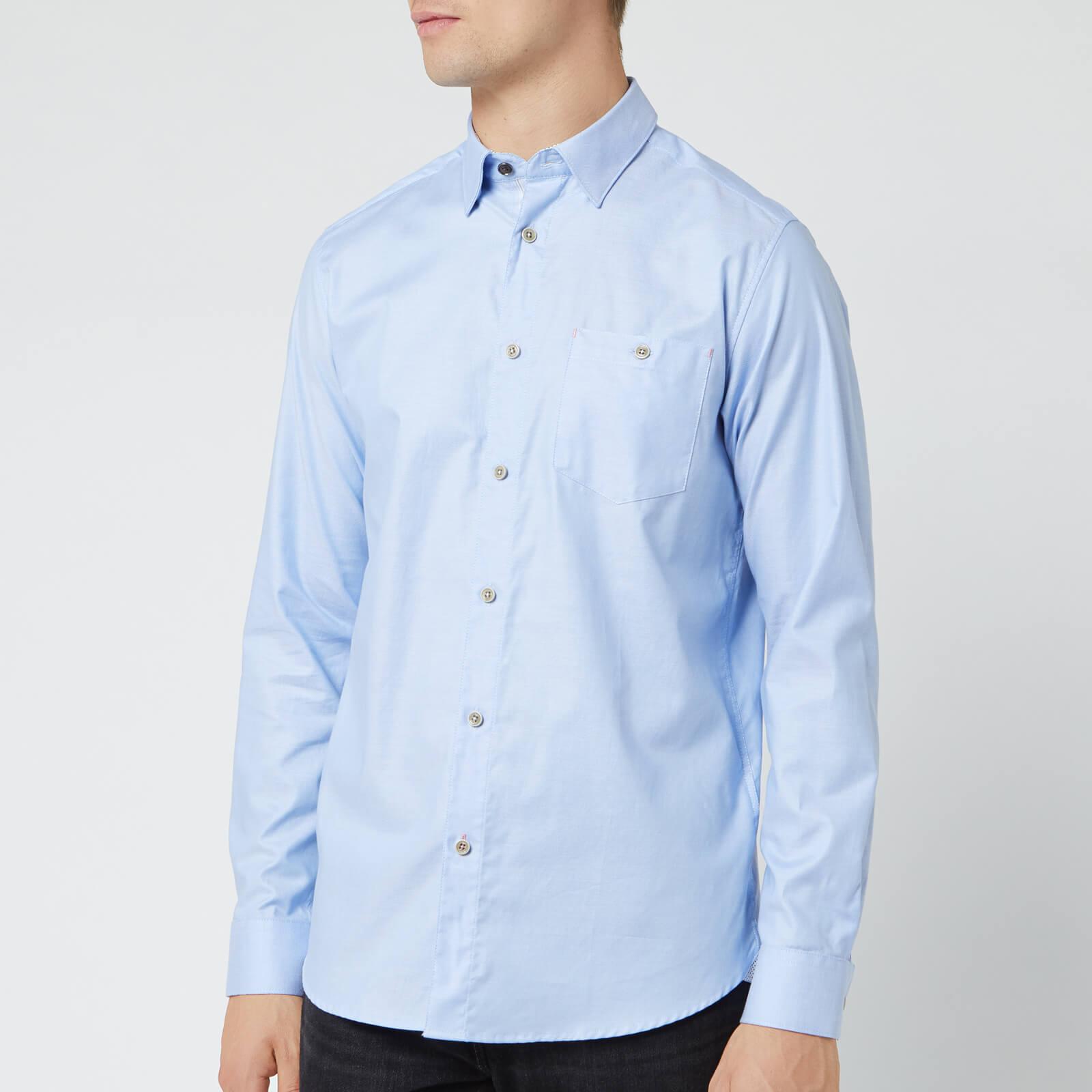 Ted Baker Men's Zachari Long Sleeve Shirt - Light Blue - L/4