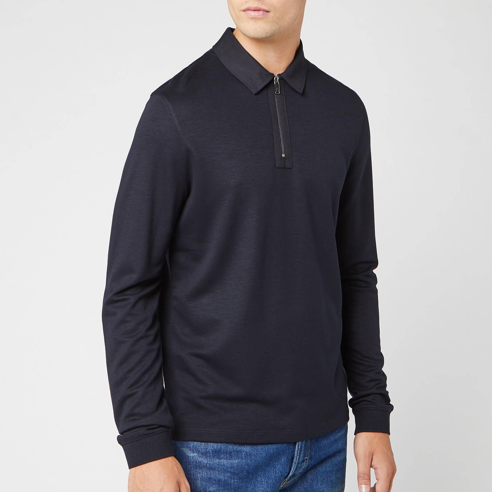 Ted Baker Men's Mytype Long Sleeve Polo Shirt - Navy - S/2