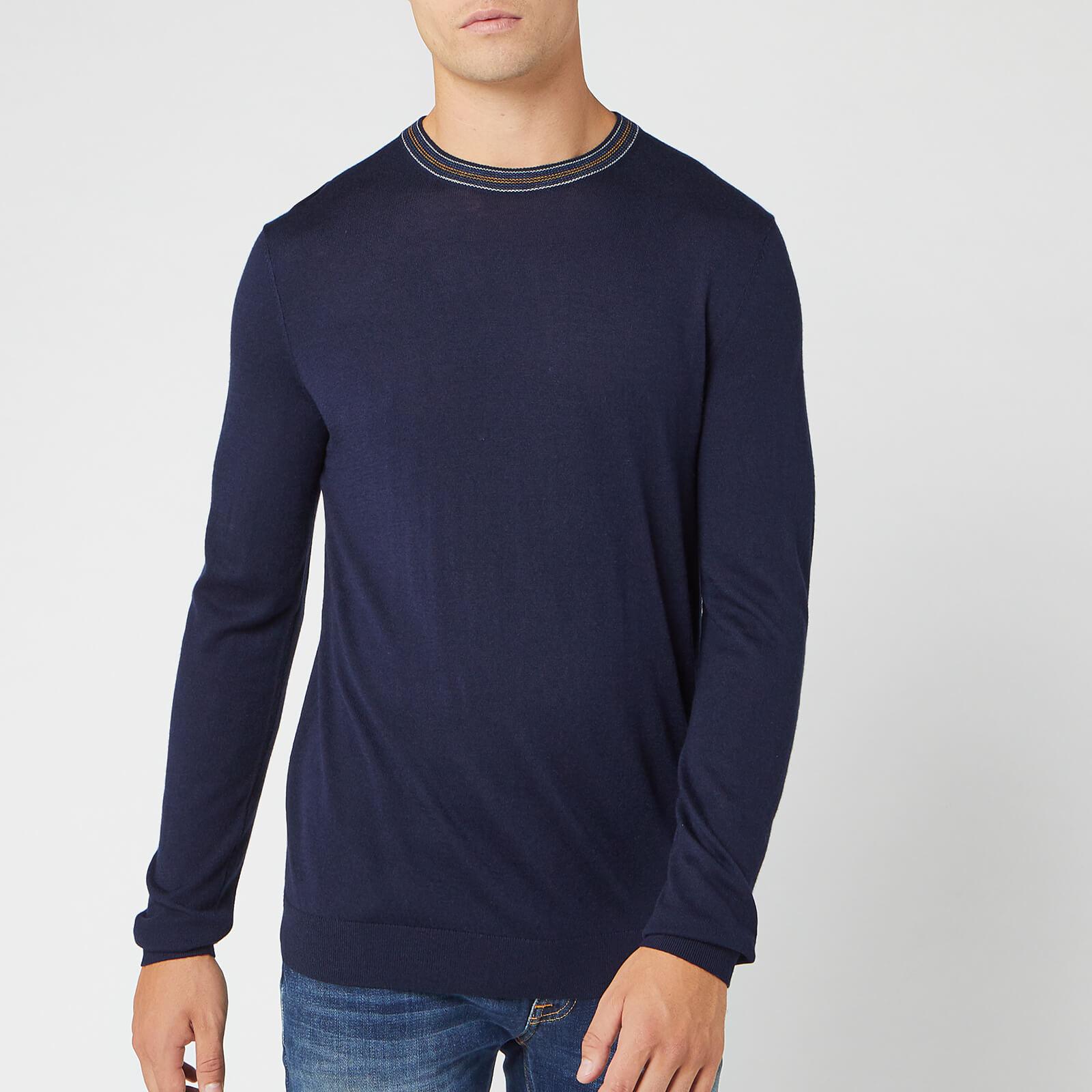 Ted Baker Men's Mailais Crew Neck Knitted Jumper - Navy - L/4