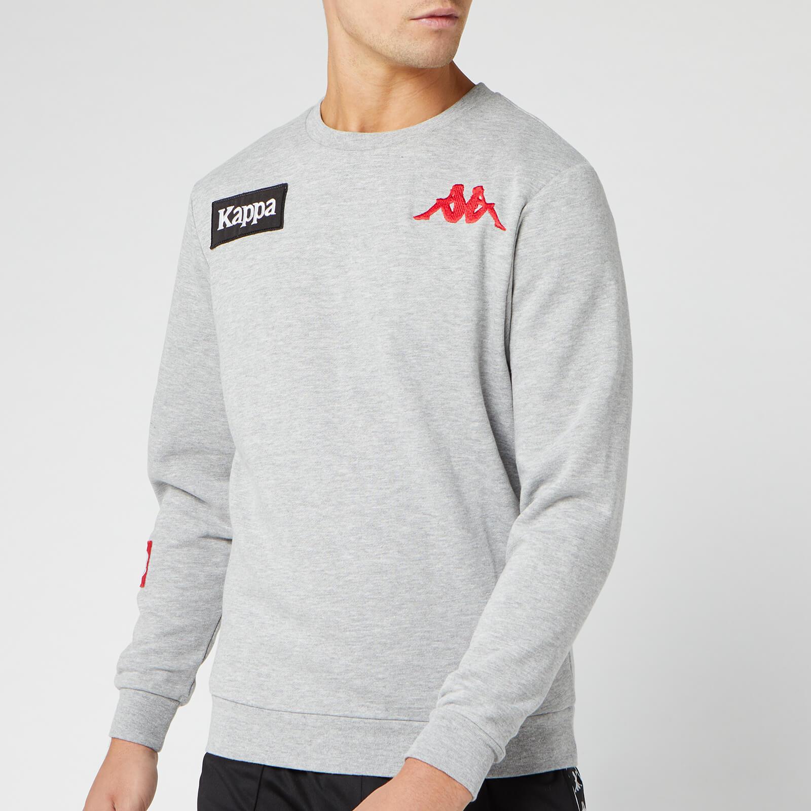 Kappa Men's Authentic La Bayza USA Sweatshirt - Grey Melange - S