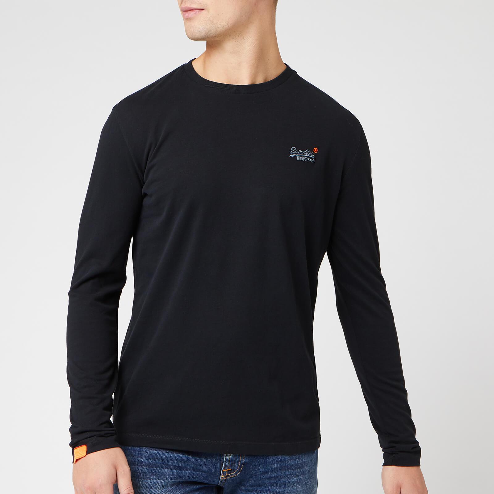 Superdry Men's O L Vintage Embroidery Long Sleeve T-Shirt - Black - L