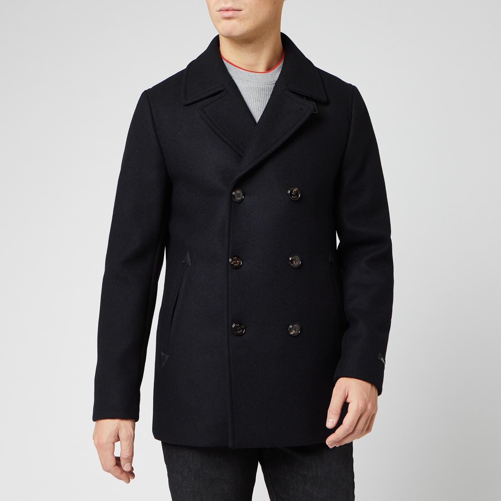 Ted Baker Men's Westun Wool Peacoat - Navy - L/4