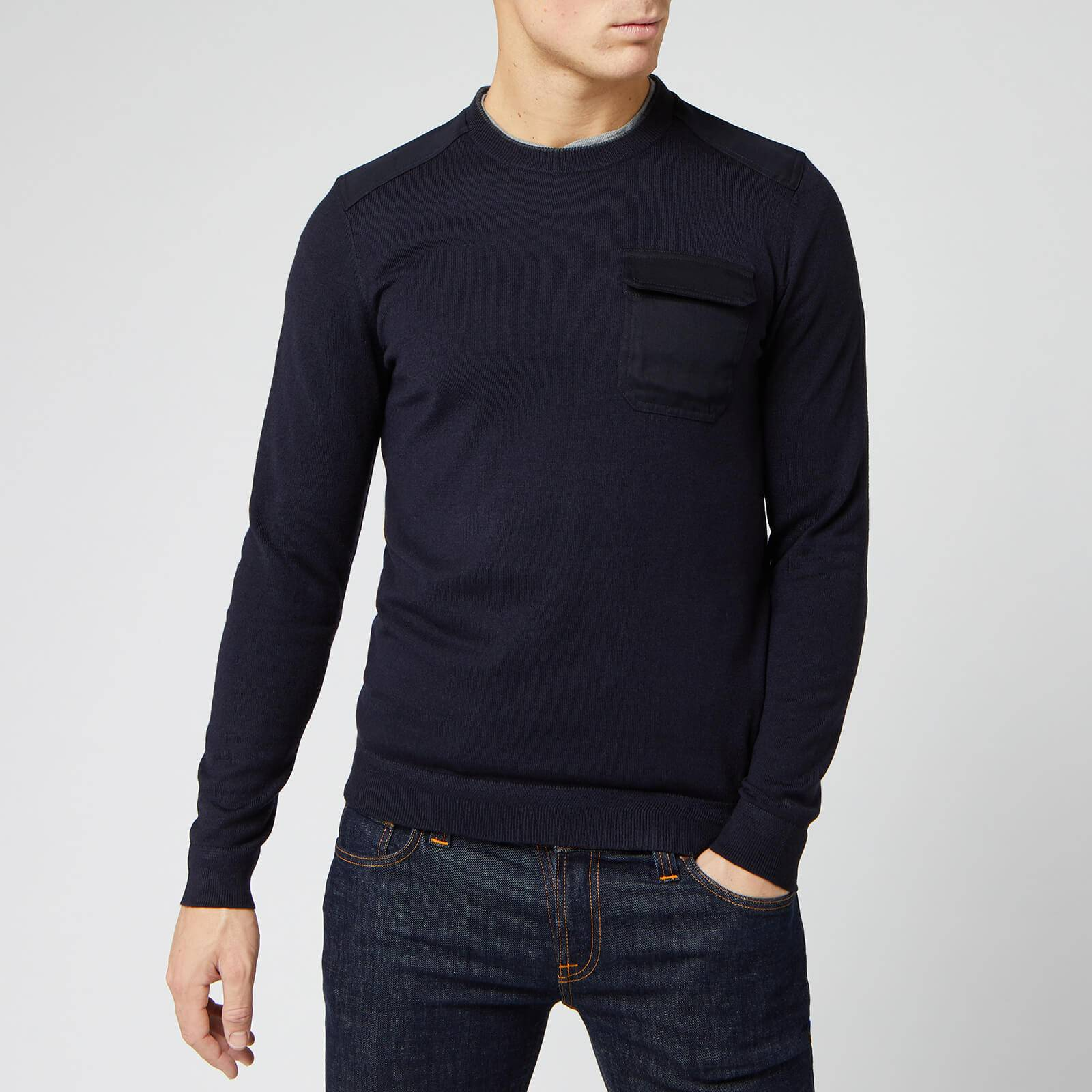 Ted Baker Men's Saysay Crew Neck Sweatshirt with Patch Pocket - Navy - L/4