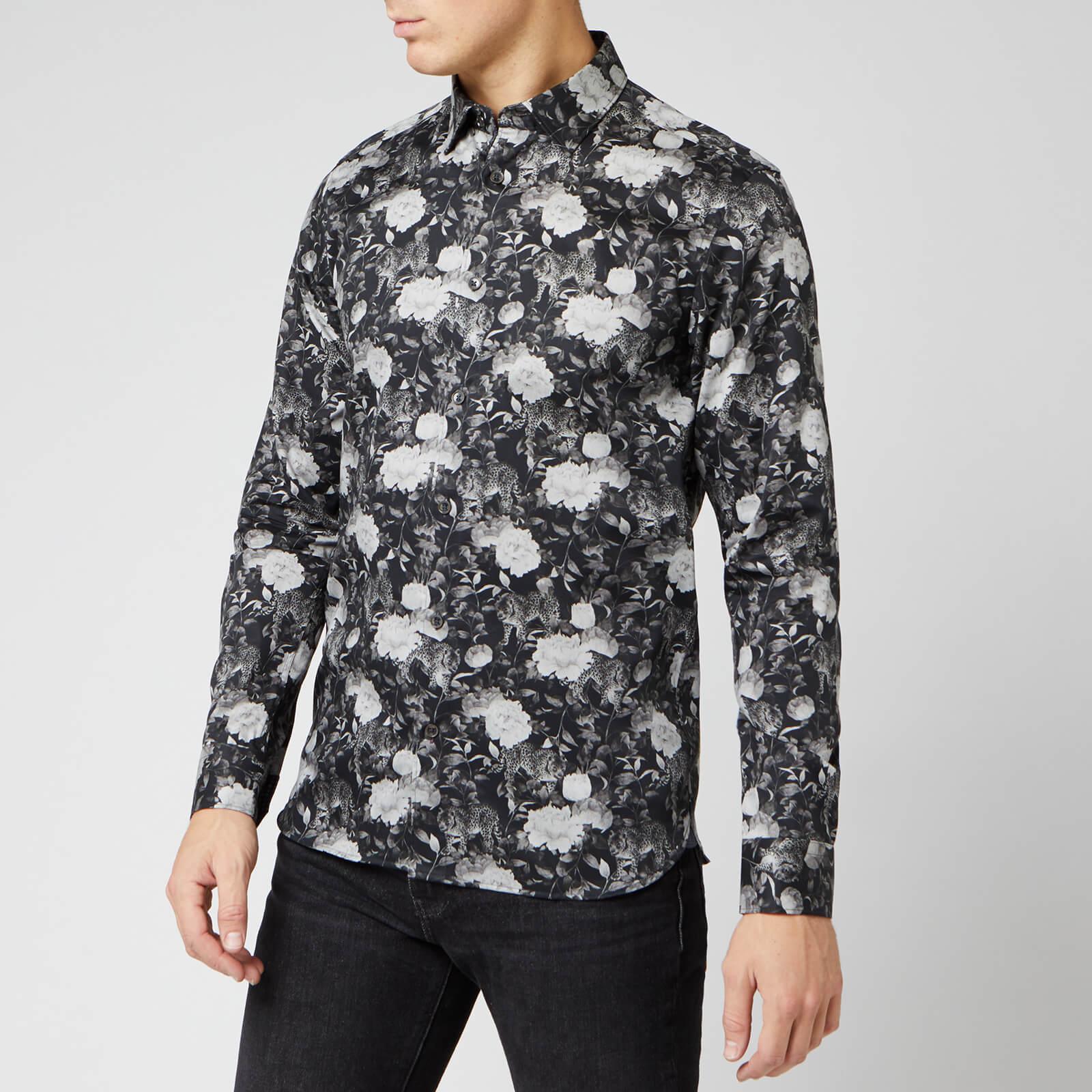 Ted Baker Men's Stylo Floral Shirt - Black - S/2