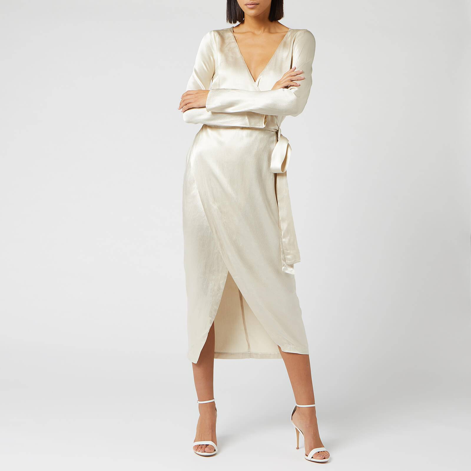 Bec & Bridge Women's Sylvie Wrap Midi Dress - Oyster - UK 10 - Cream