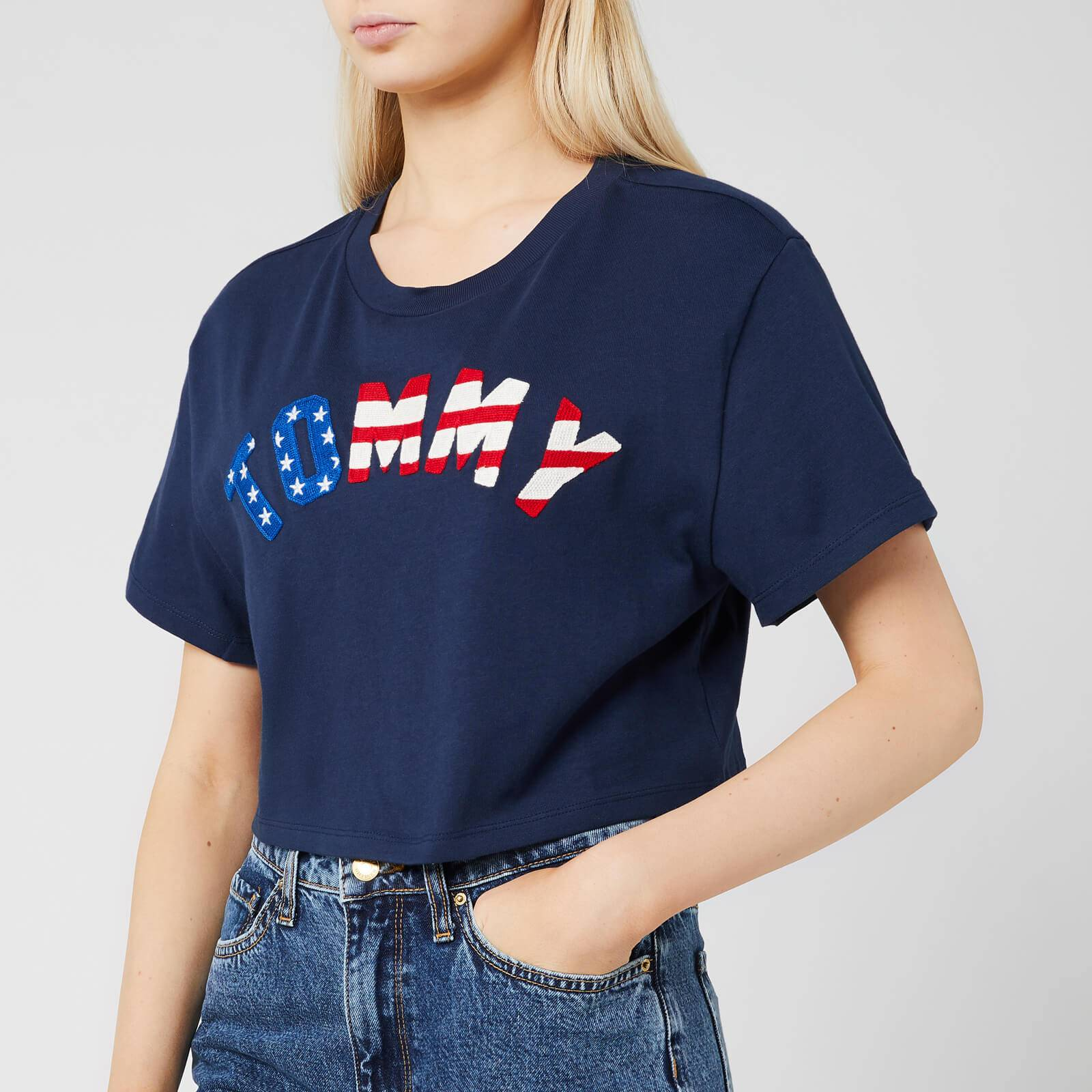 Tommy Jeans Women's Tommy US Flag T-Shirt - Black Iris - M - Black