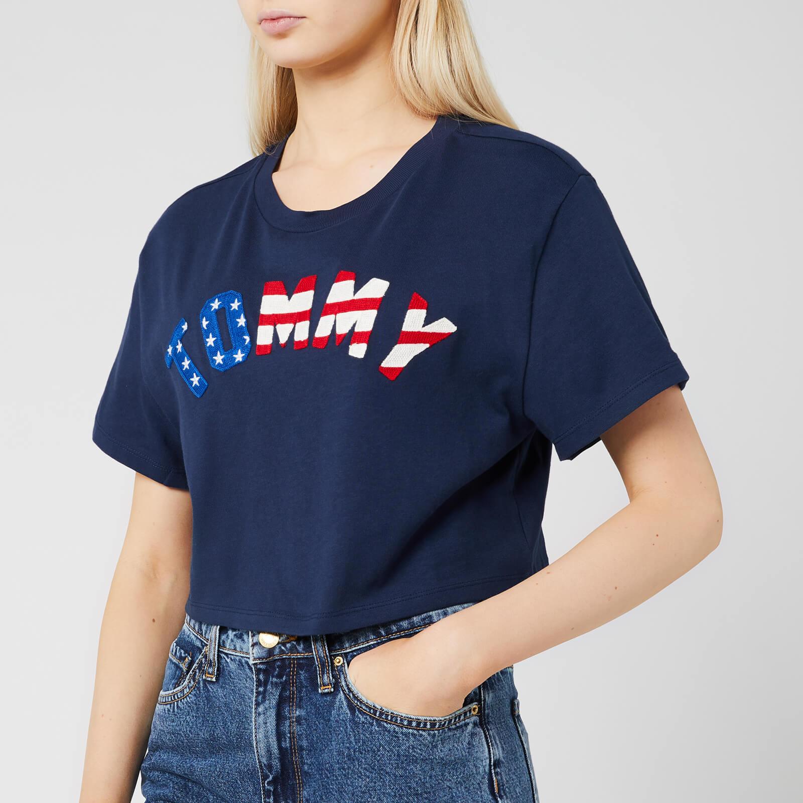 Tommy Jeans Women's Tommy US Flag T-Shirt - Black Iris - XS - Black