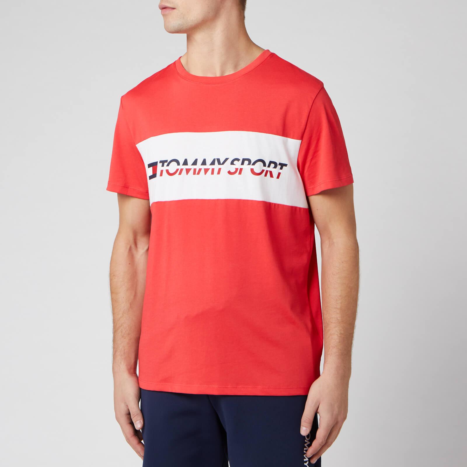 Tommy Sport Men's Short Sleeve Logo T-Shirt - Hibiscus Red - XL