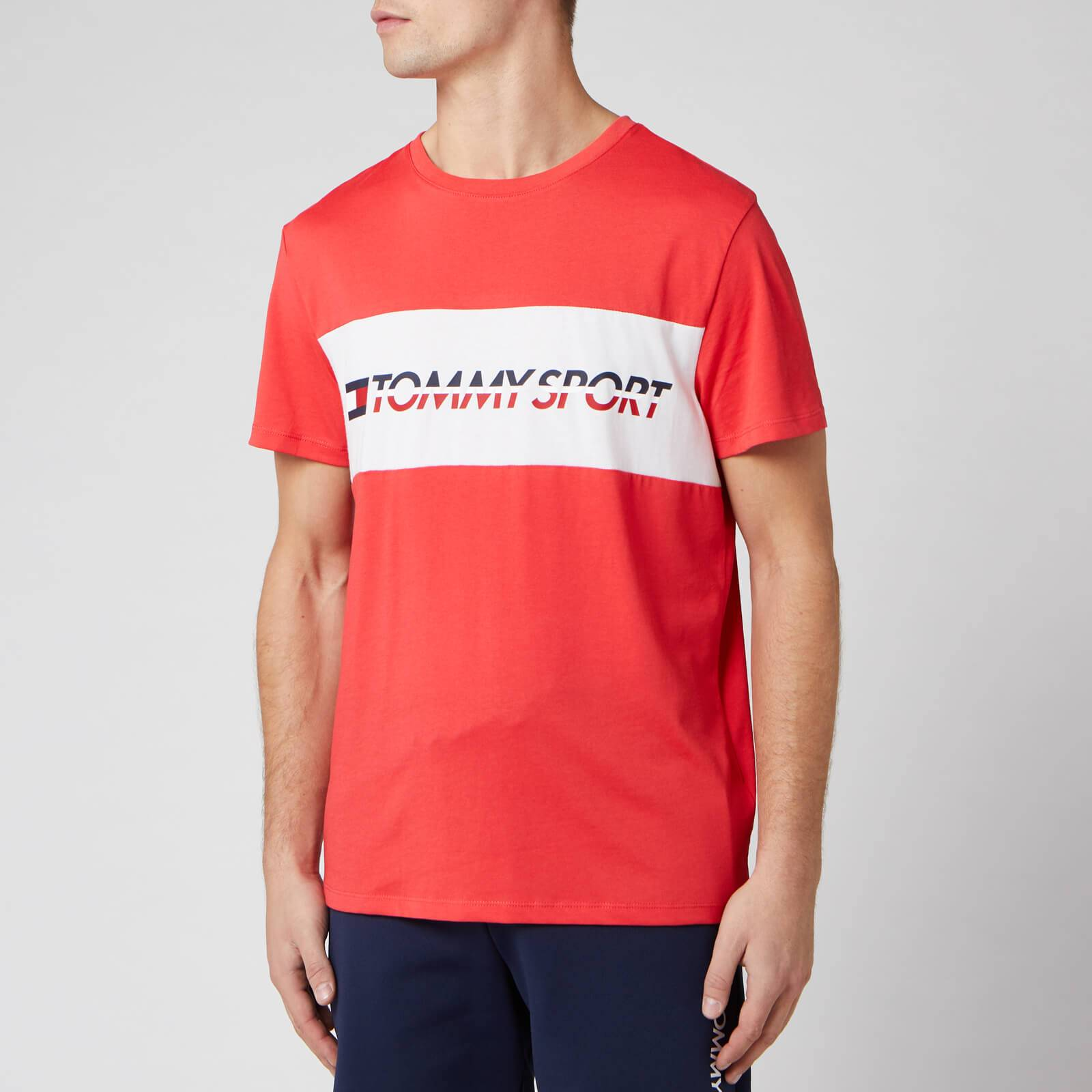 Tommy Sport Men's Short Sleeve Logo T-Shirt - Hibiscus Red - L