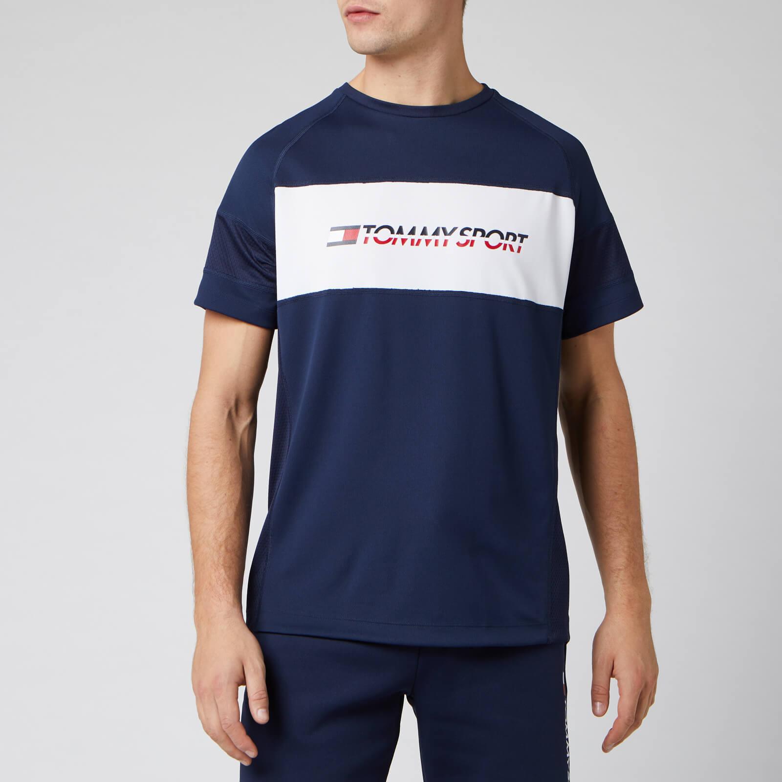 Tommy Sport Men's Performance Mesh Short Sleeve T-Shirt - Sport Navy - XL